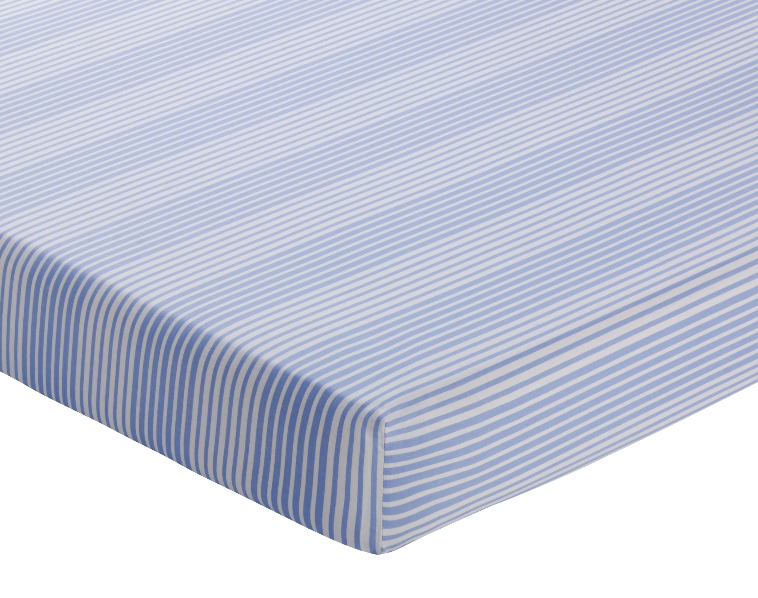 Drap-housse 160x200 en coton bleu