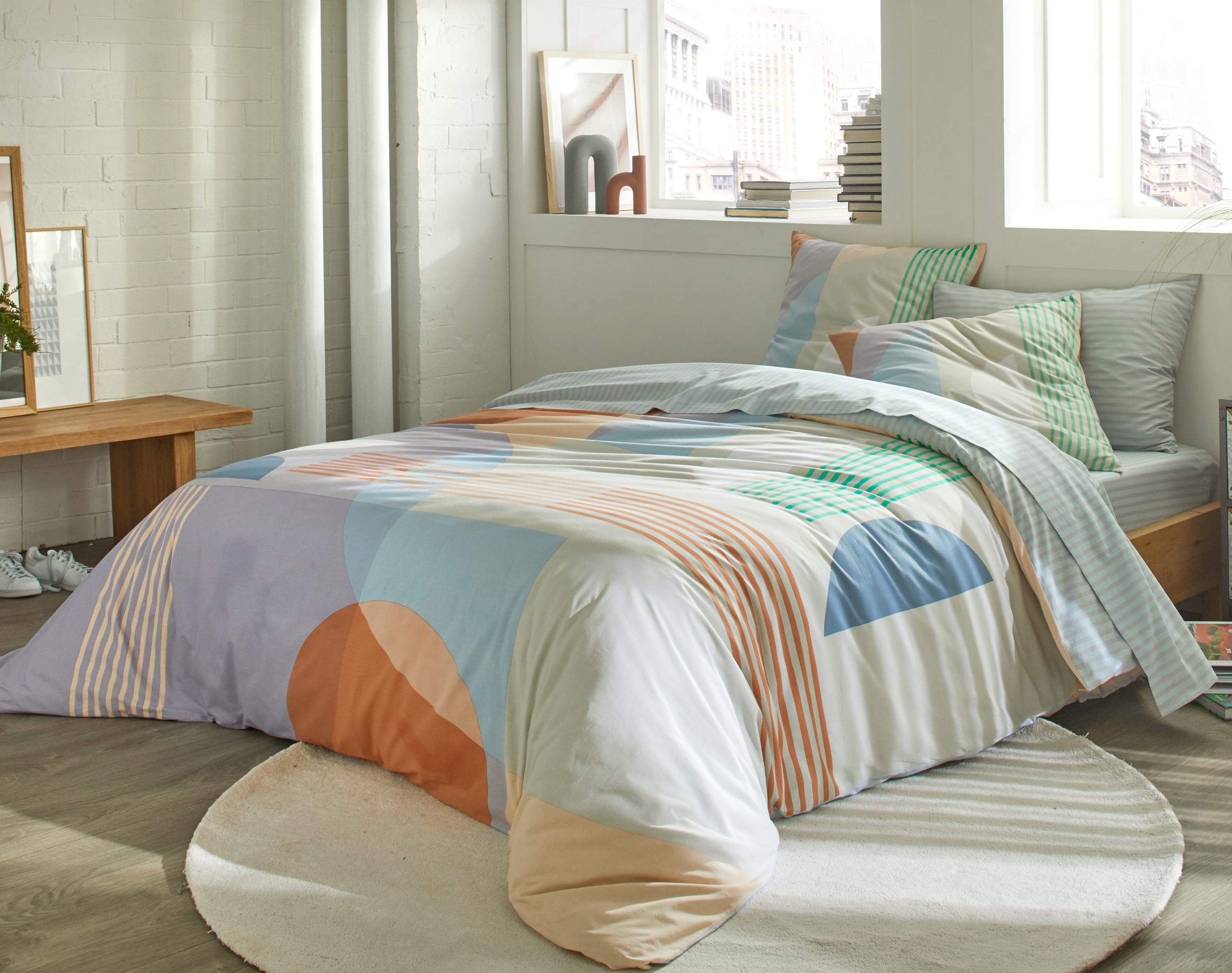 Housse de couette 200x200 en coton multicolore