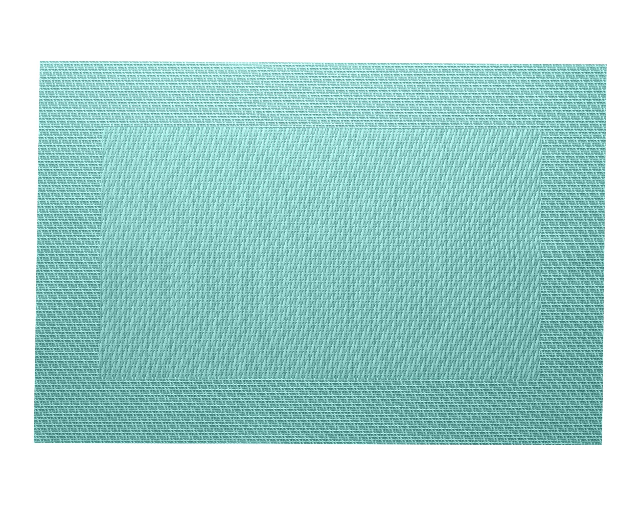 Lot de 2 sets de table unis bleu aqua 45x30