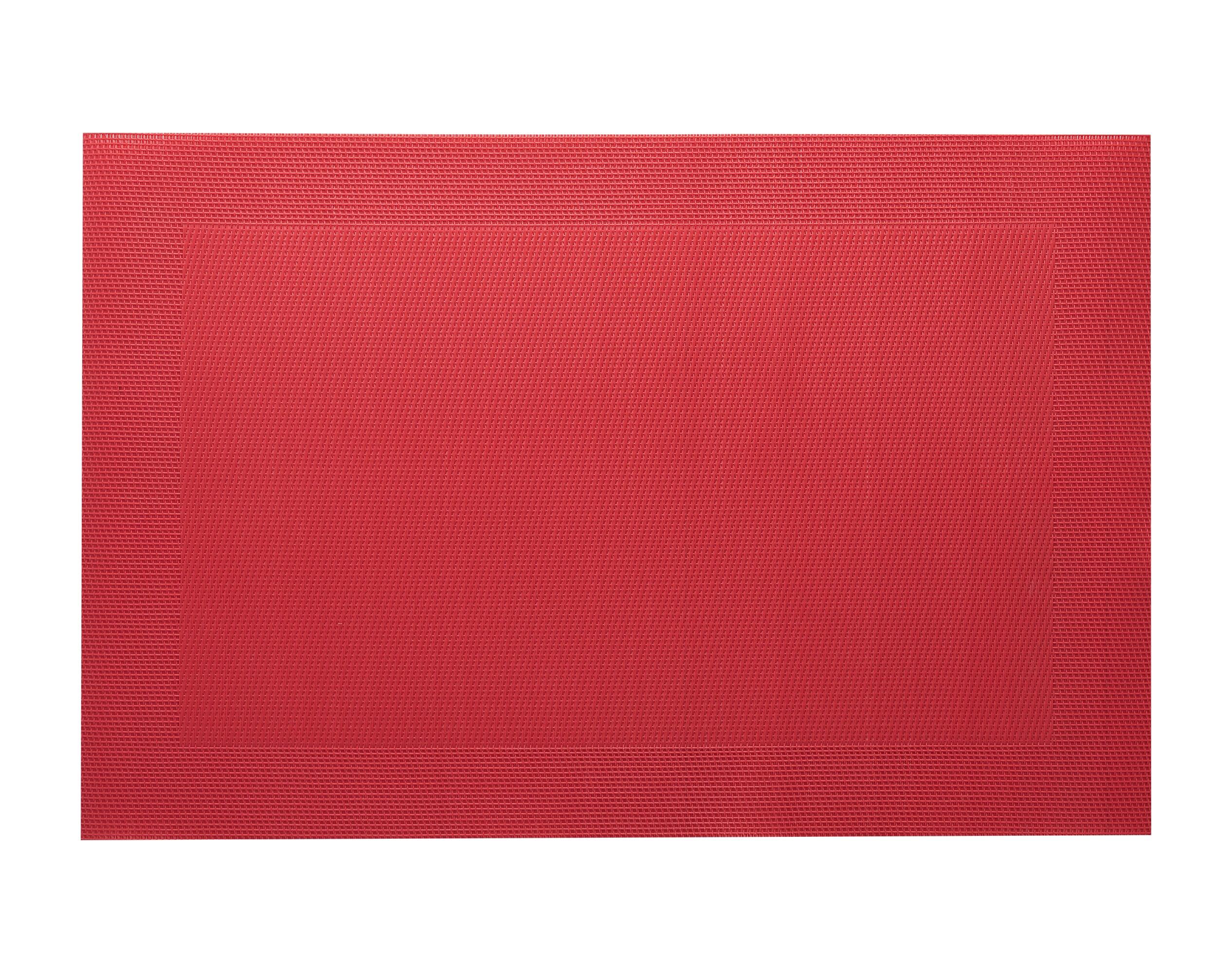 Lot de 2 sets de table unis rouge 45x30