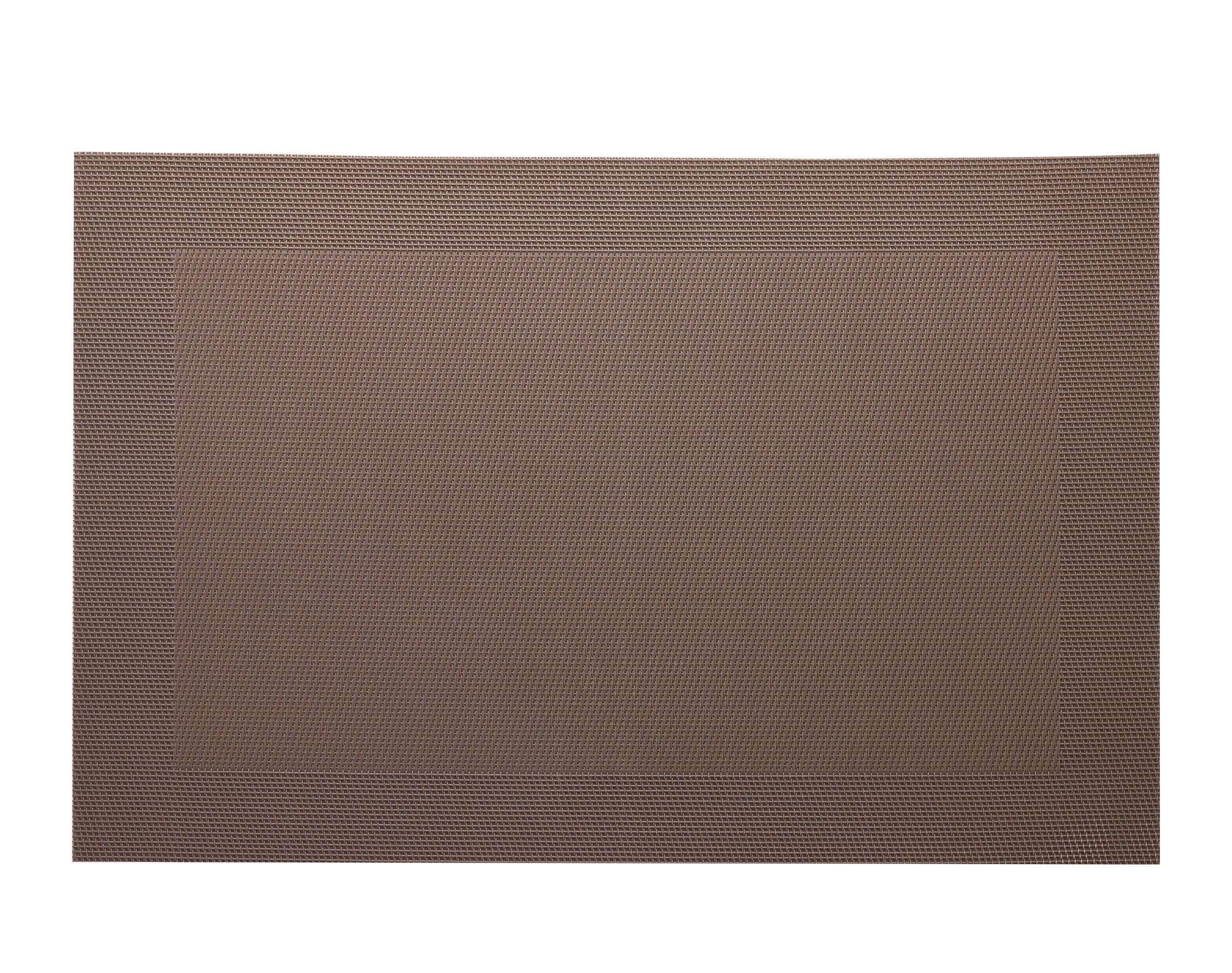 Lot de 2 sets de table unis marron 45x30