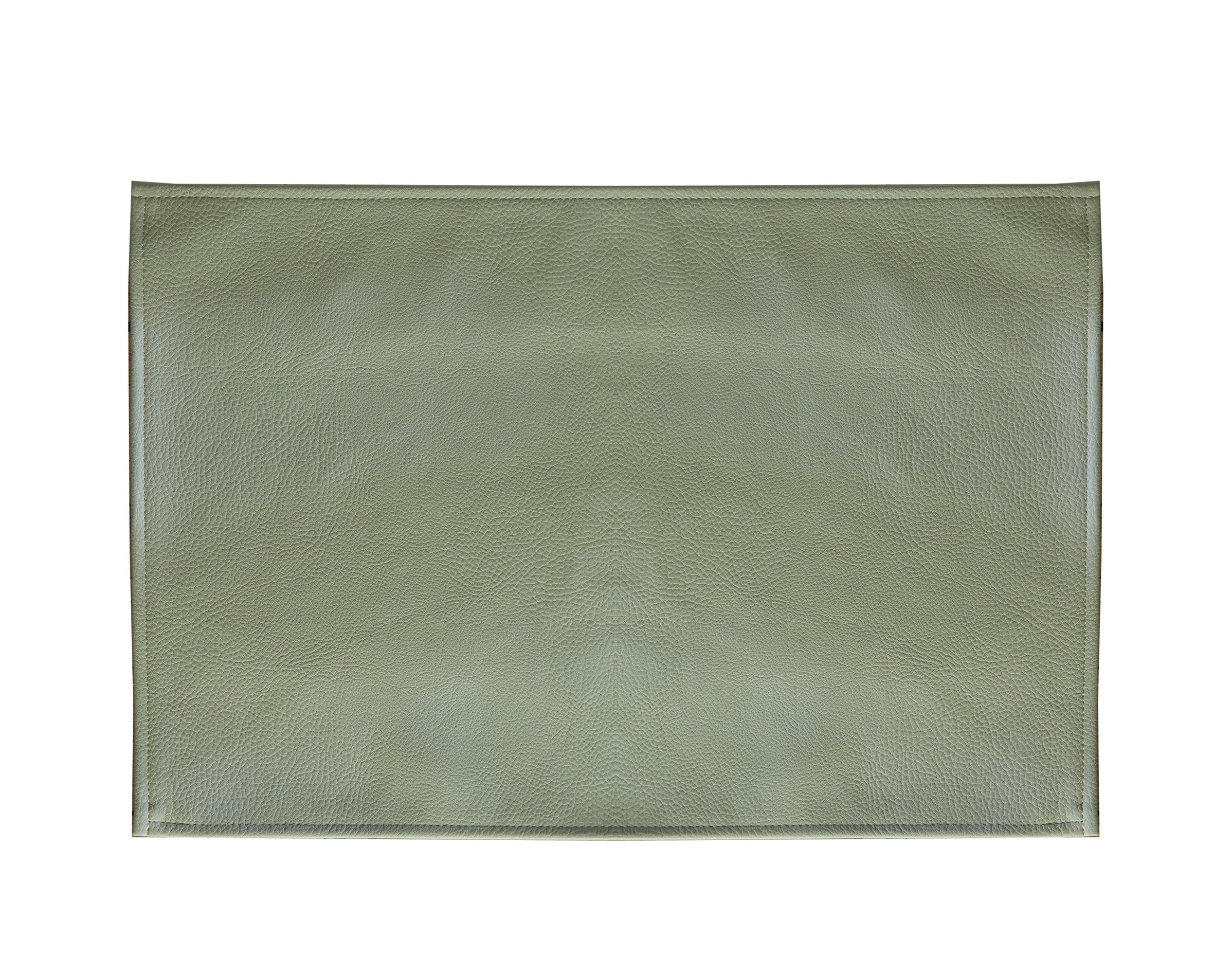 Lot de 2 sets de table aspect grainé vert pâle 45x30