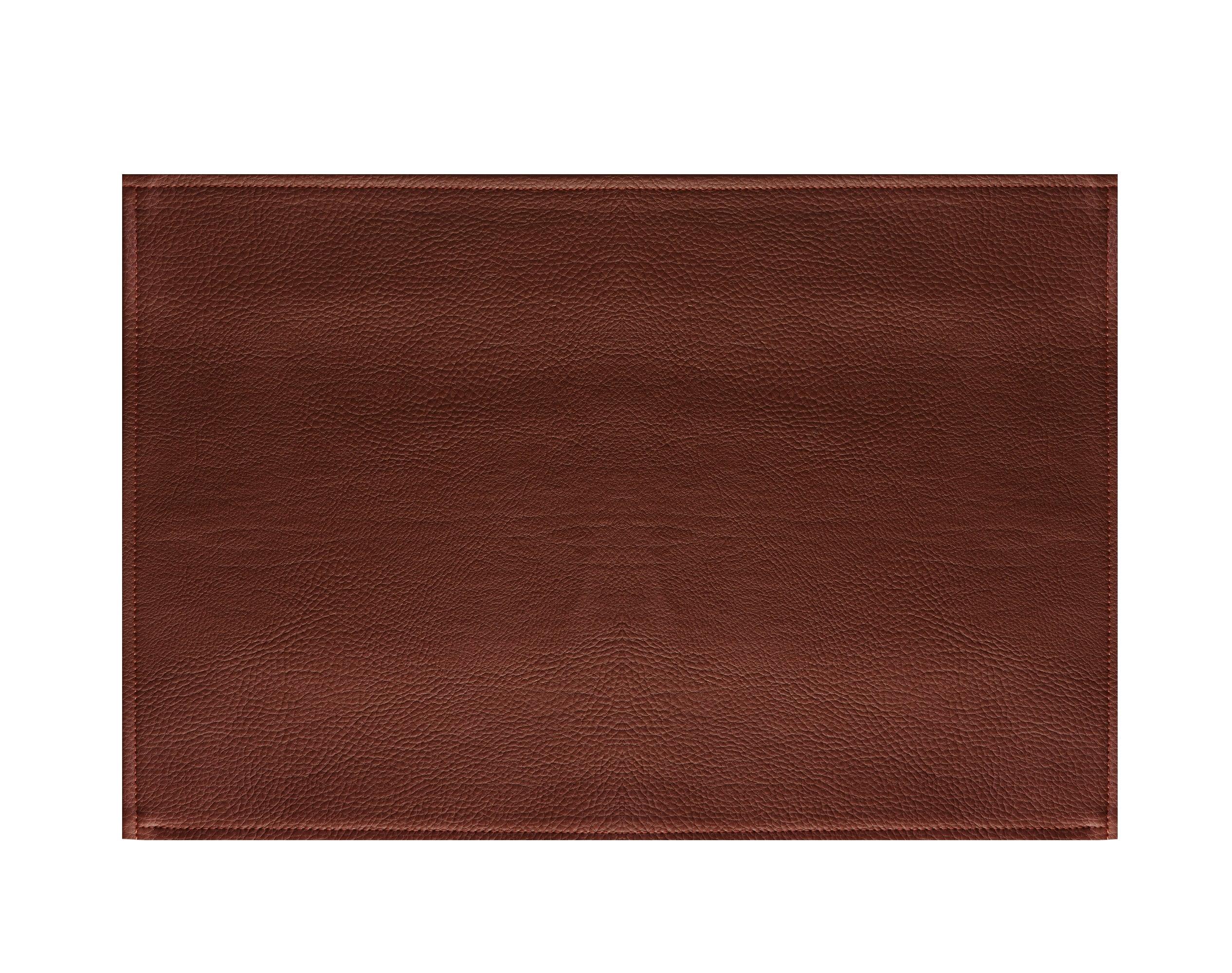 Lot de 2 sets de table aspect grainé marron 45x30