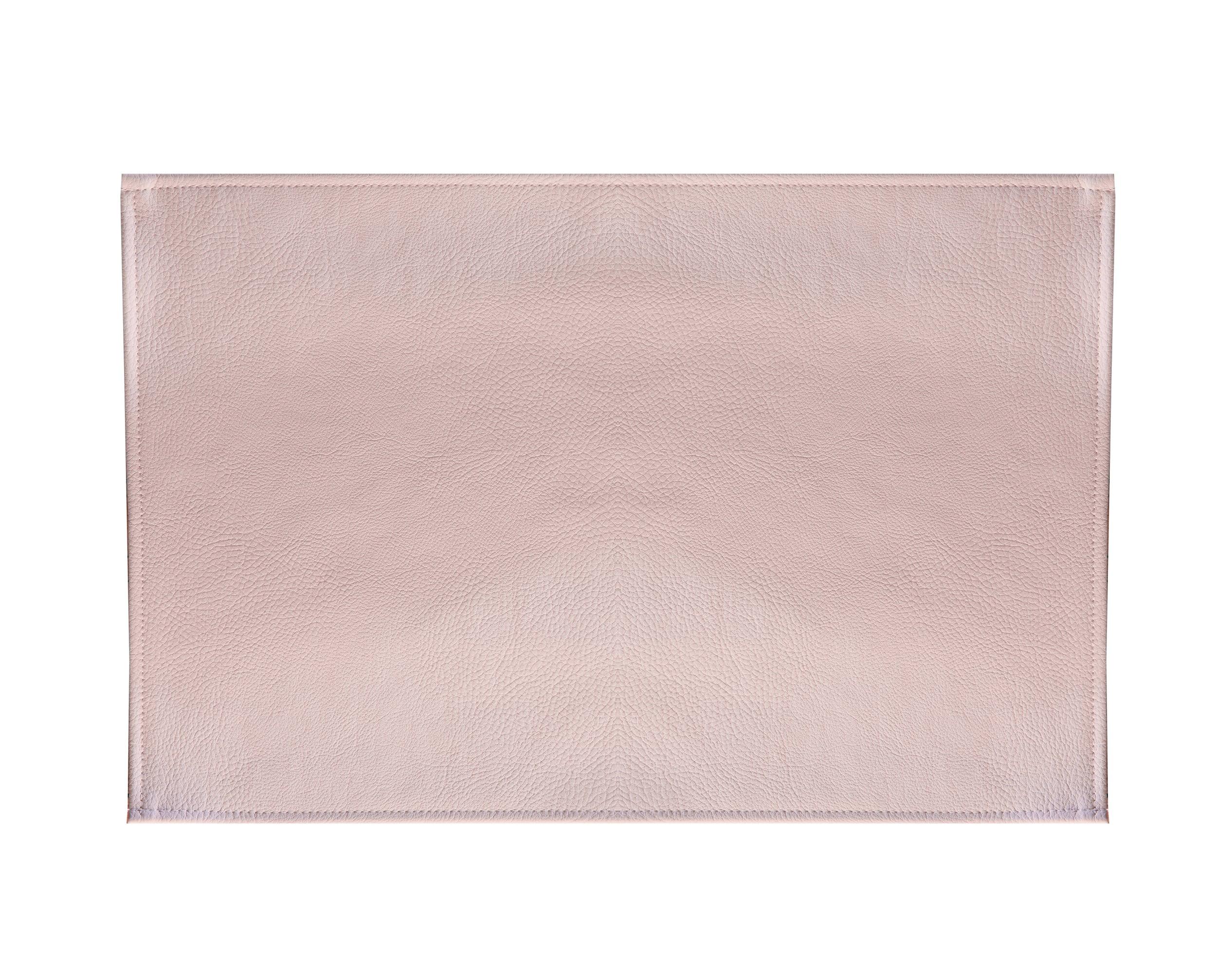 Lot de 2 sets de table aspect grainé rose poudré 45x30