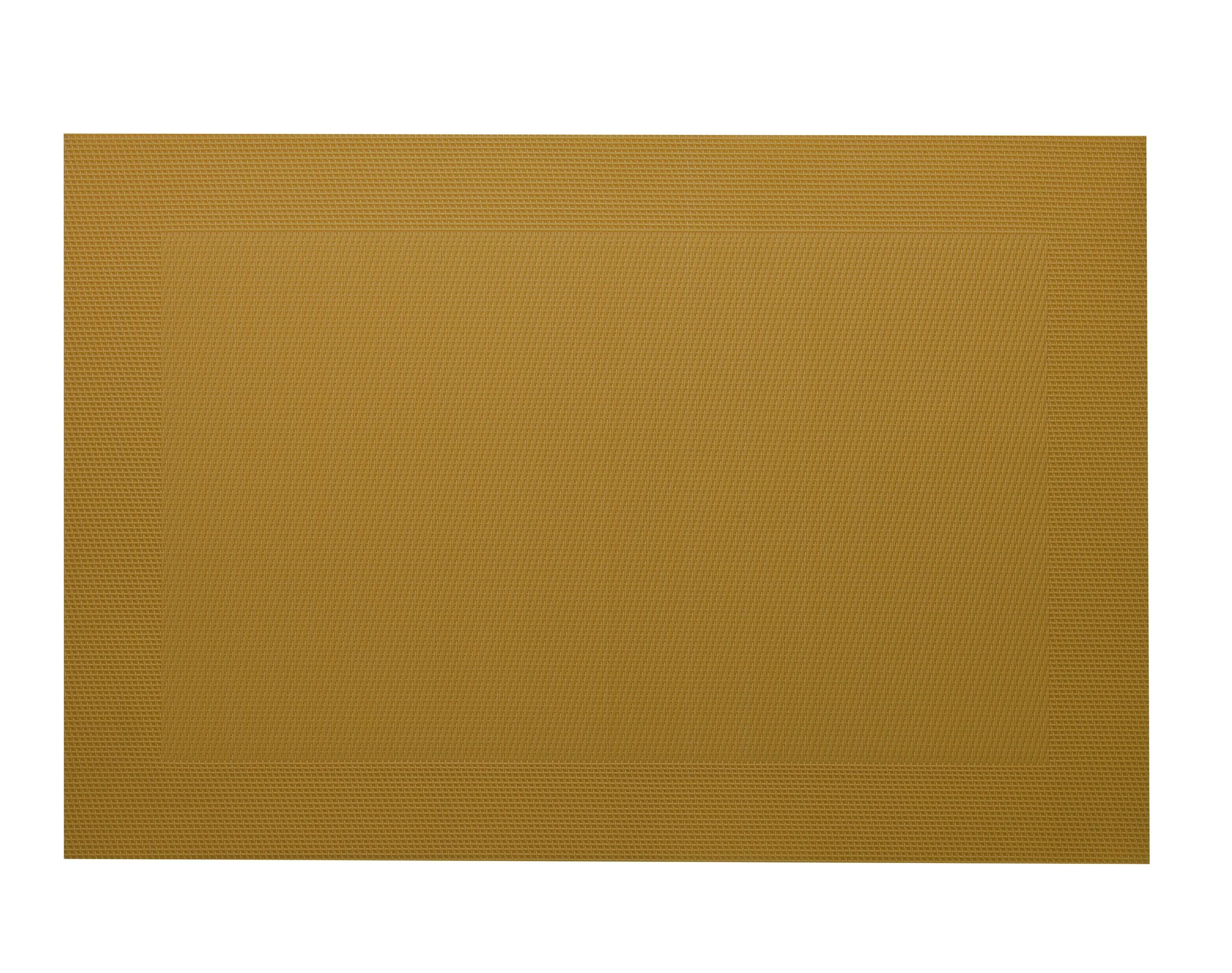Lot de 2 sets de table unis jaune curry 45x30