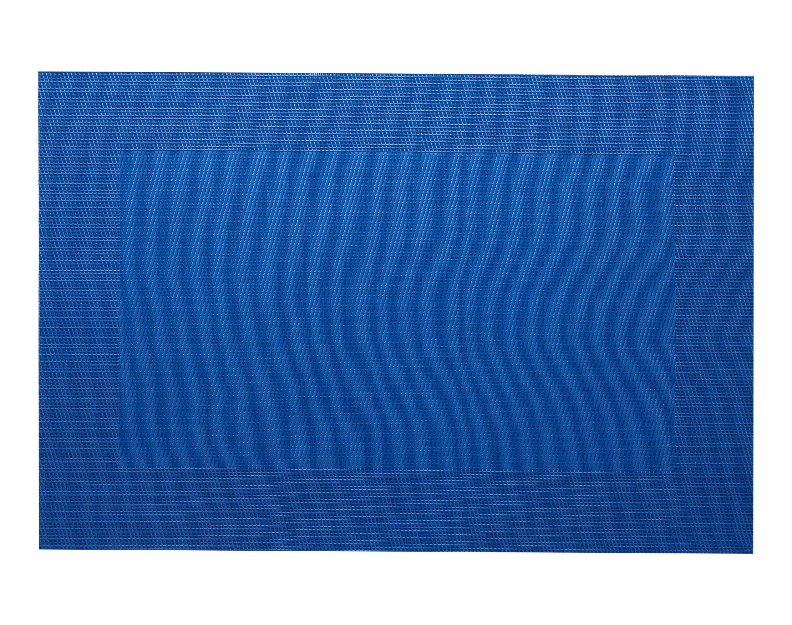 Lot de 2 sets de table unis bleu 45x30