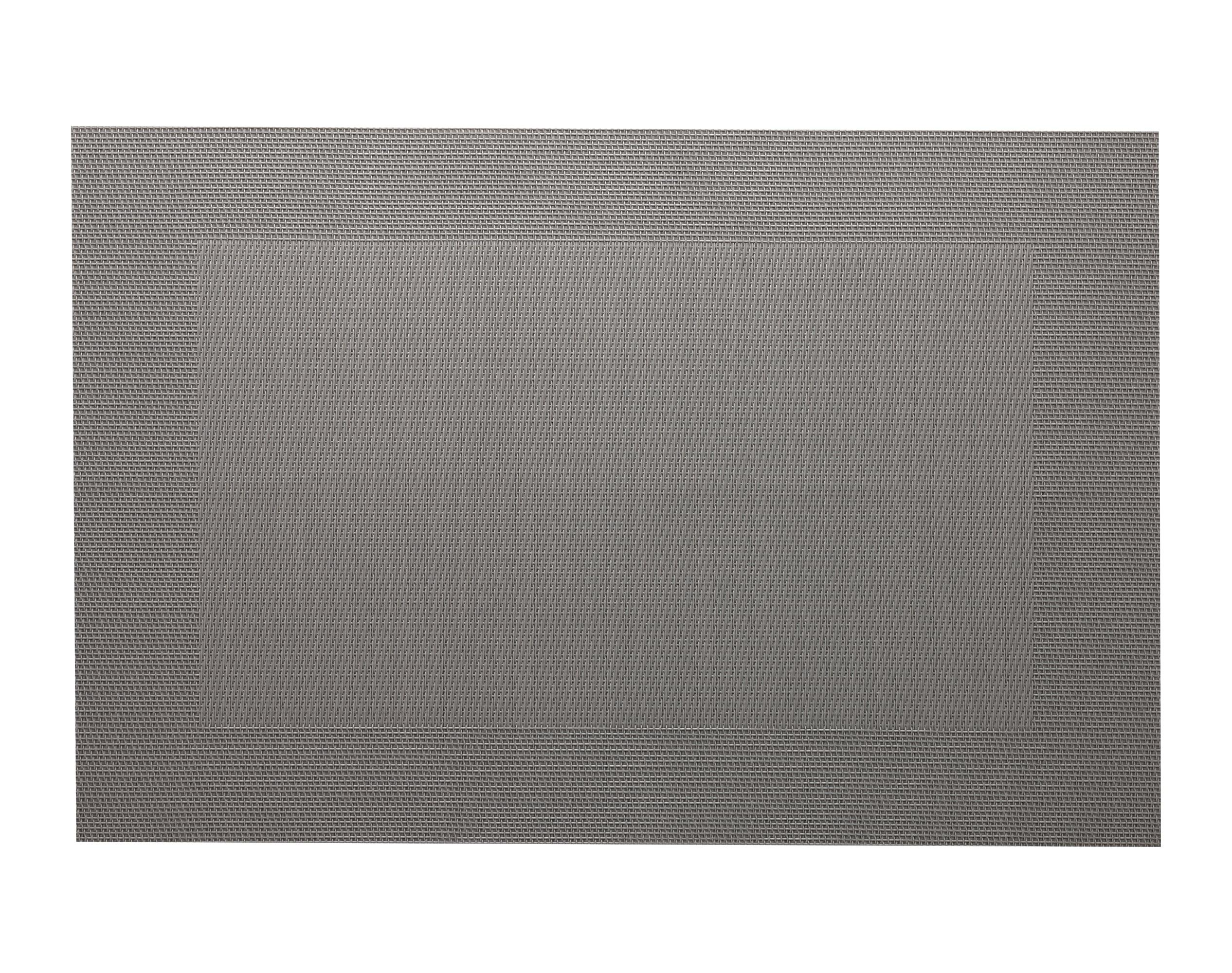 Lot de 2 sets de table unis gris 45x30