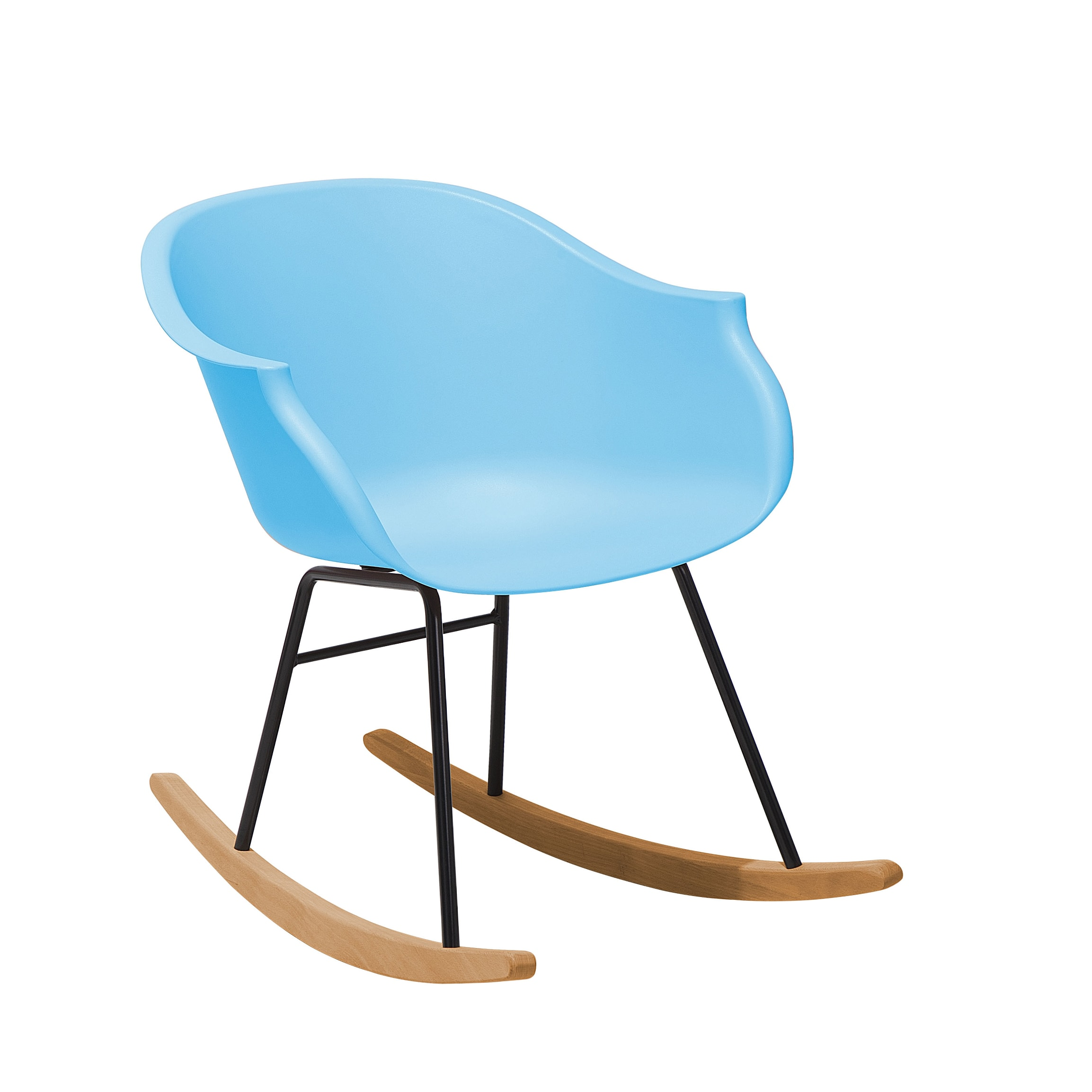 Chaise à bascule bleu clair