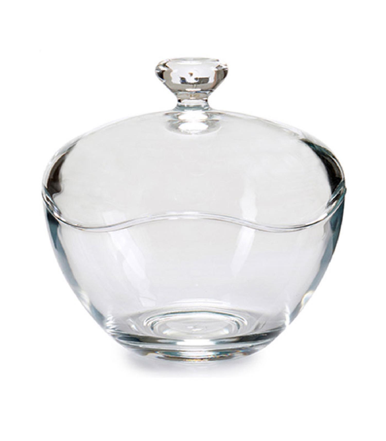 Petite bonbonnière en verre classique ronde