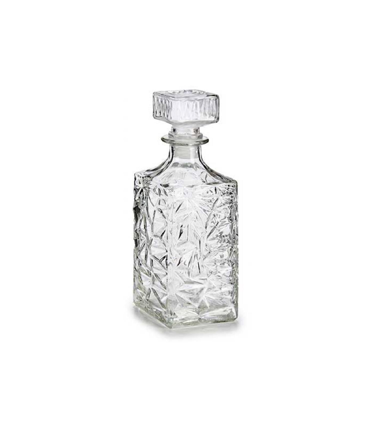 Carafe à whisky en verre taillé transparent 1L