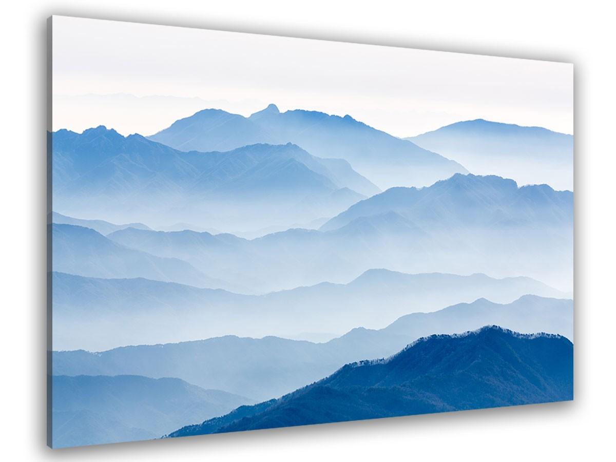 Tableau montagnes bleues 120x80