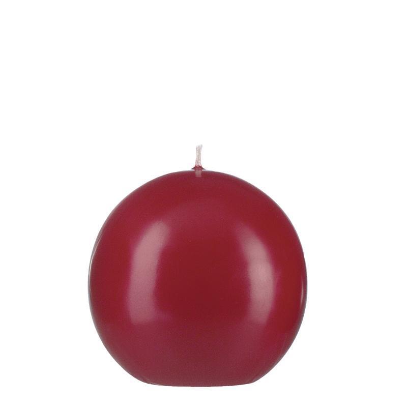 Bougie ronde D8cm 15h rouge Noël