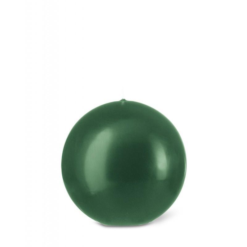 Bougie ronde D8cm 15h vert Noël