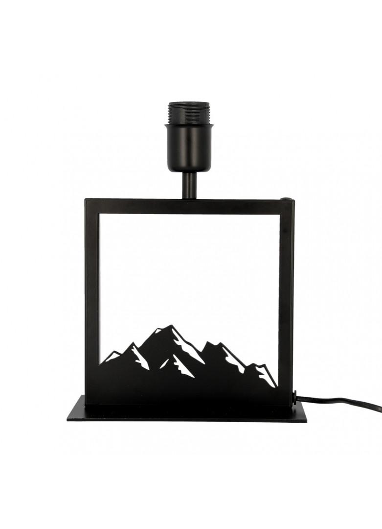 Lampe à poser cadre noir montagne