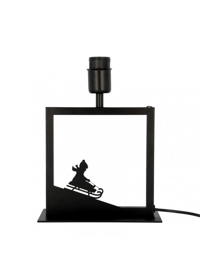 Lampe à poser cadre noir luge