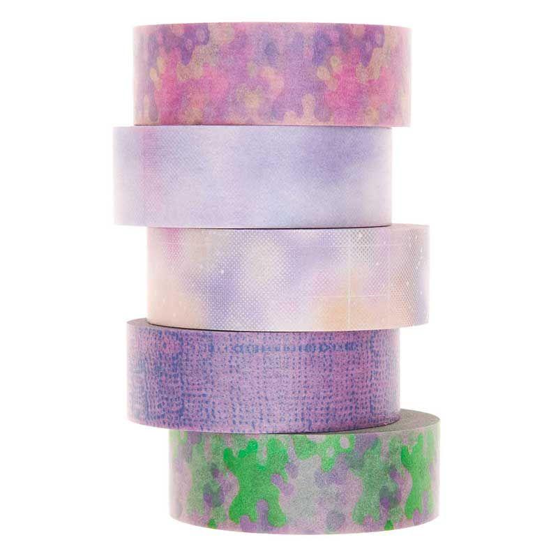5 masking tapes pastel 1,5cmx10m