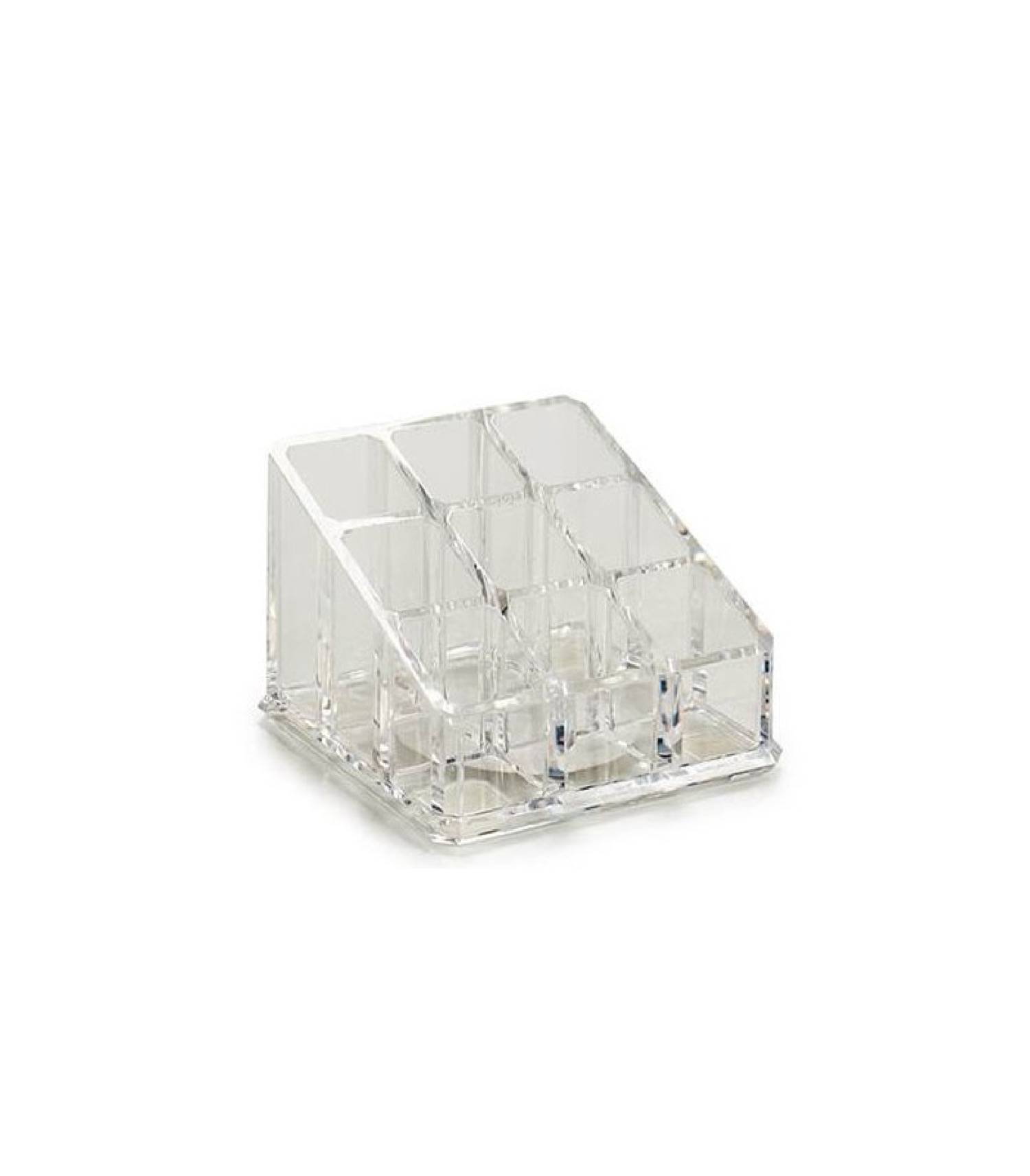 Rangement maquillage transparent 9 compartiments