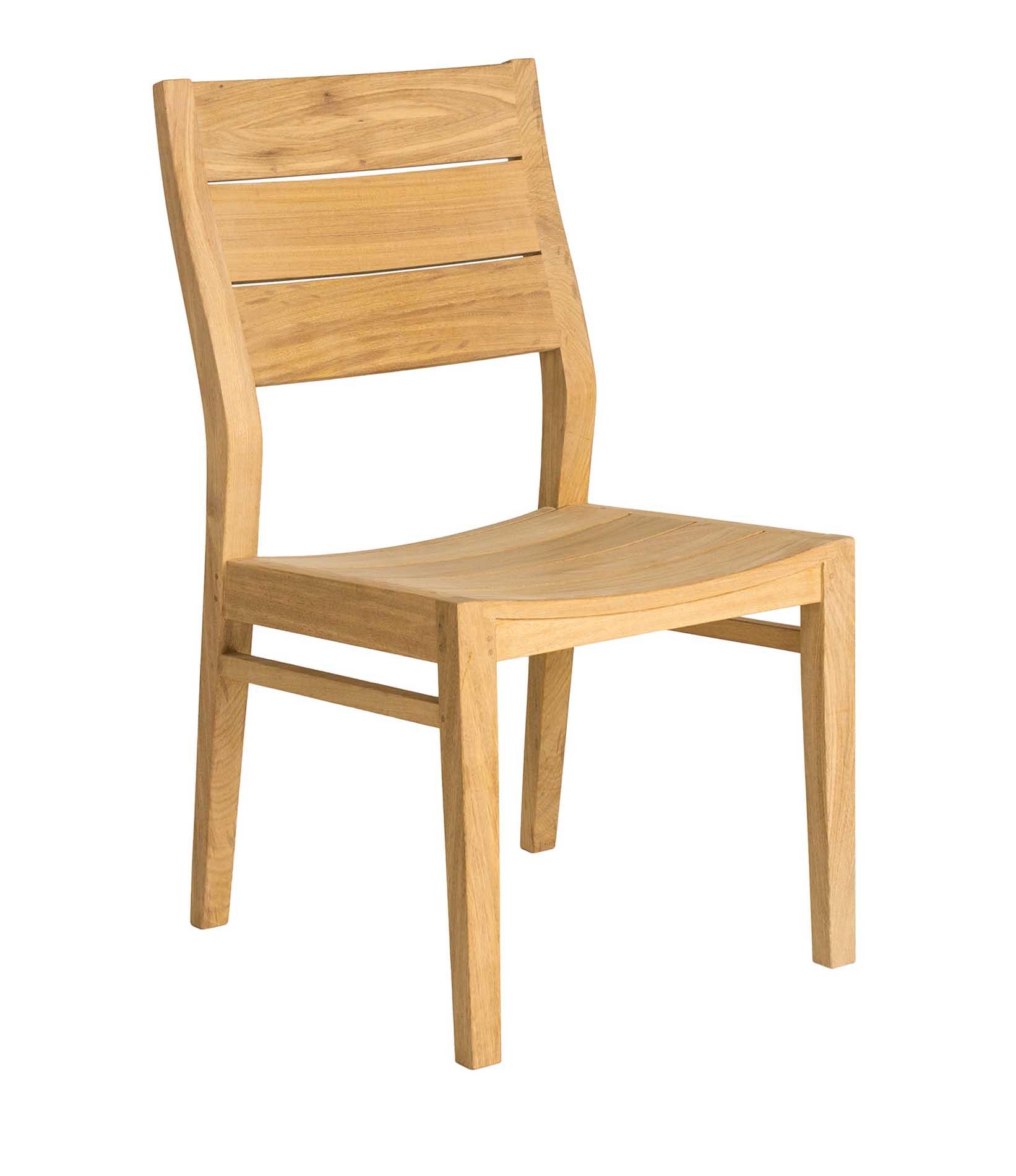 Chaise repas dossier haut en bois jaune