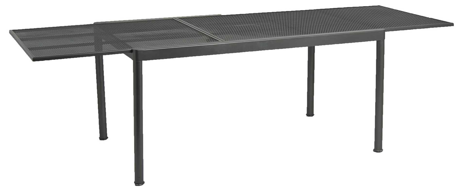 Table extensible en acier gris 150-270 cm