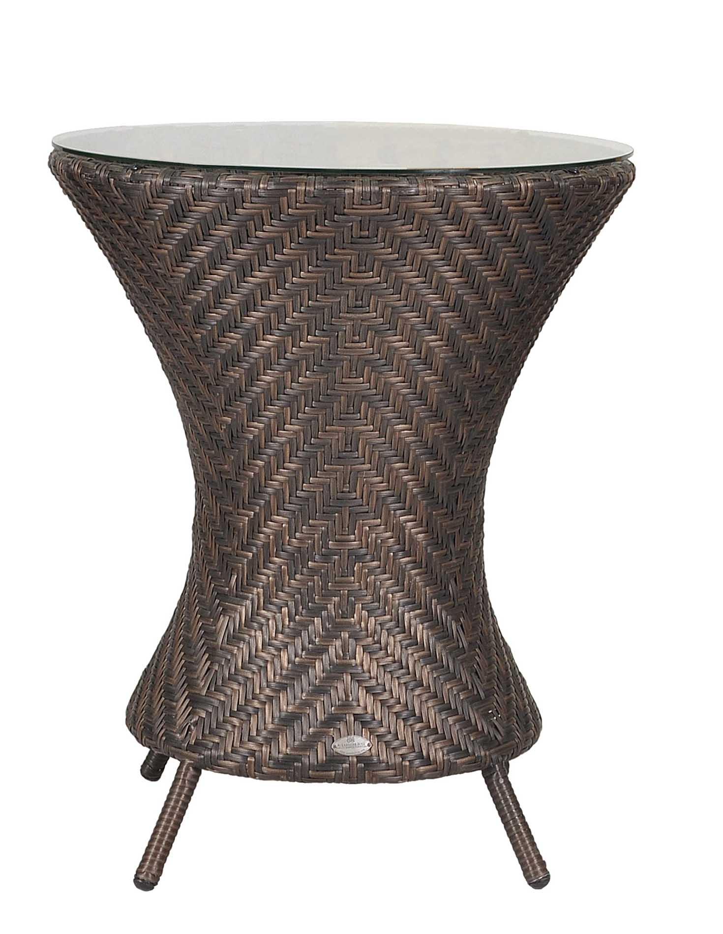 Table repas aluminium et fibre synthétique pour 2 personnes