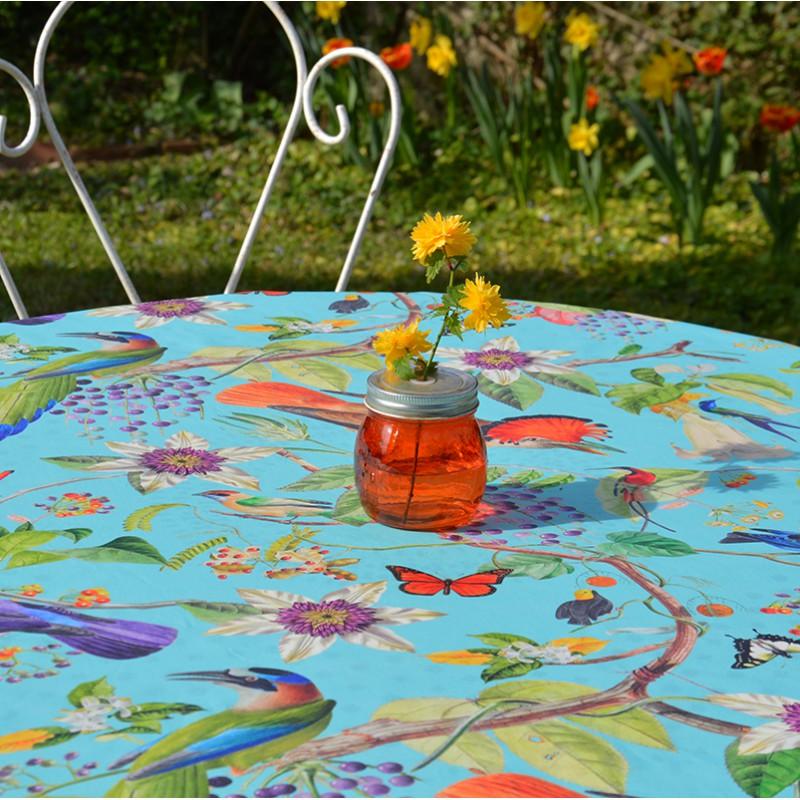 Nappe enduite carrée 160 x 160 cm multicolore
