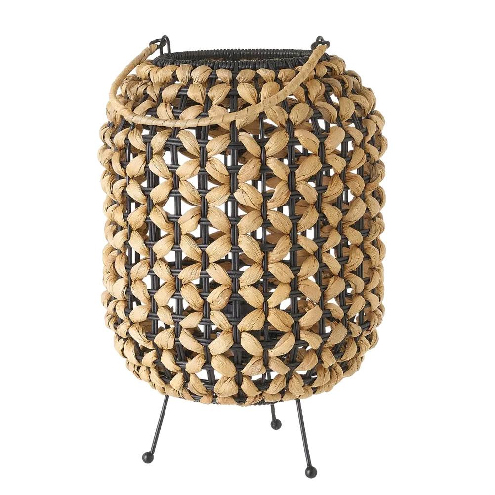 Lampe de table en jacinthe d'eau H30,5cm