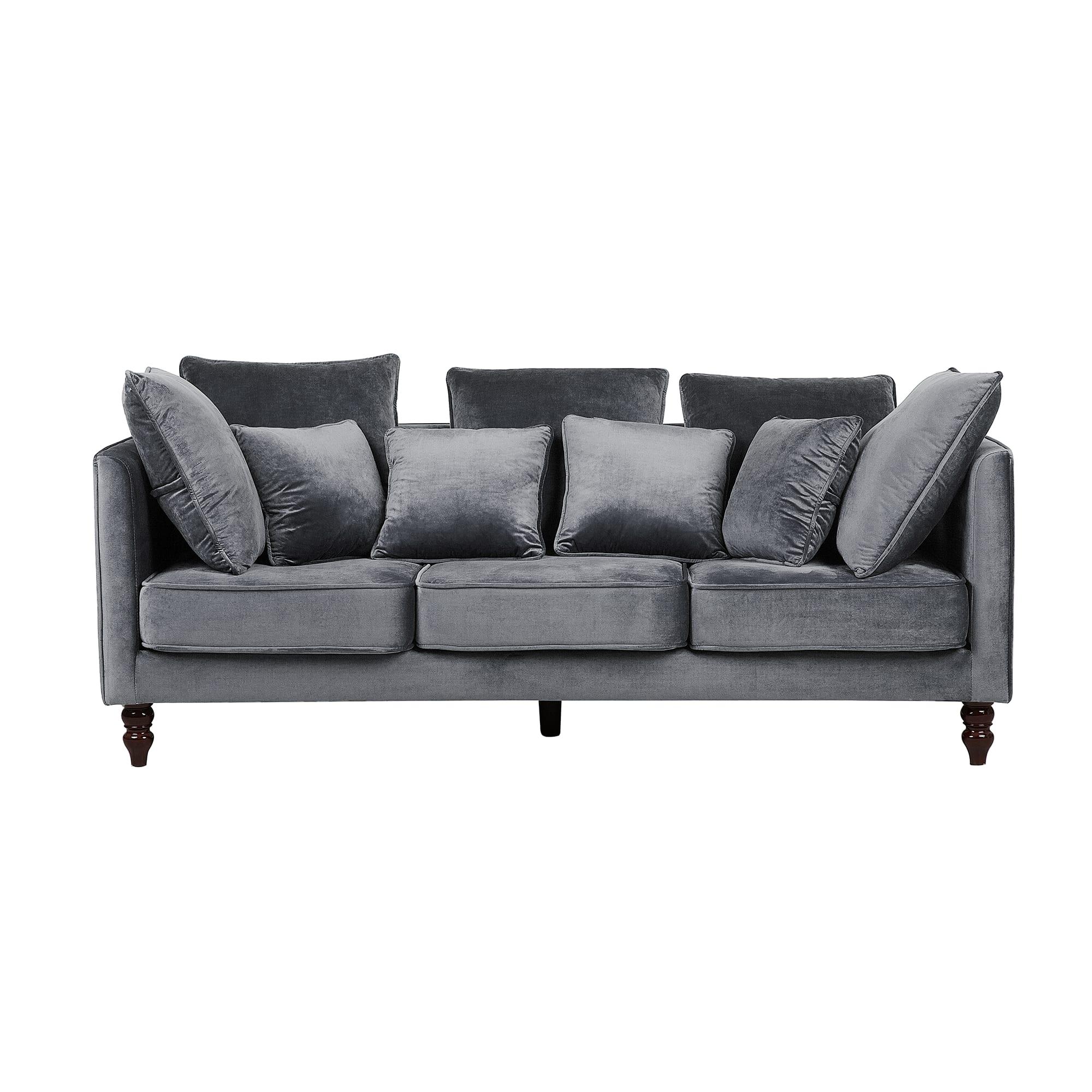Canapé 3 places en velours gris