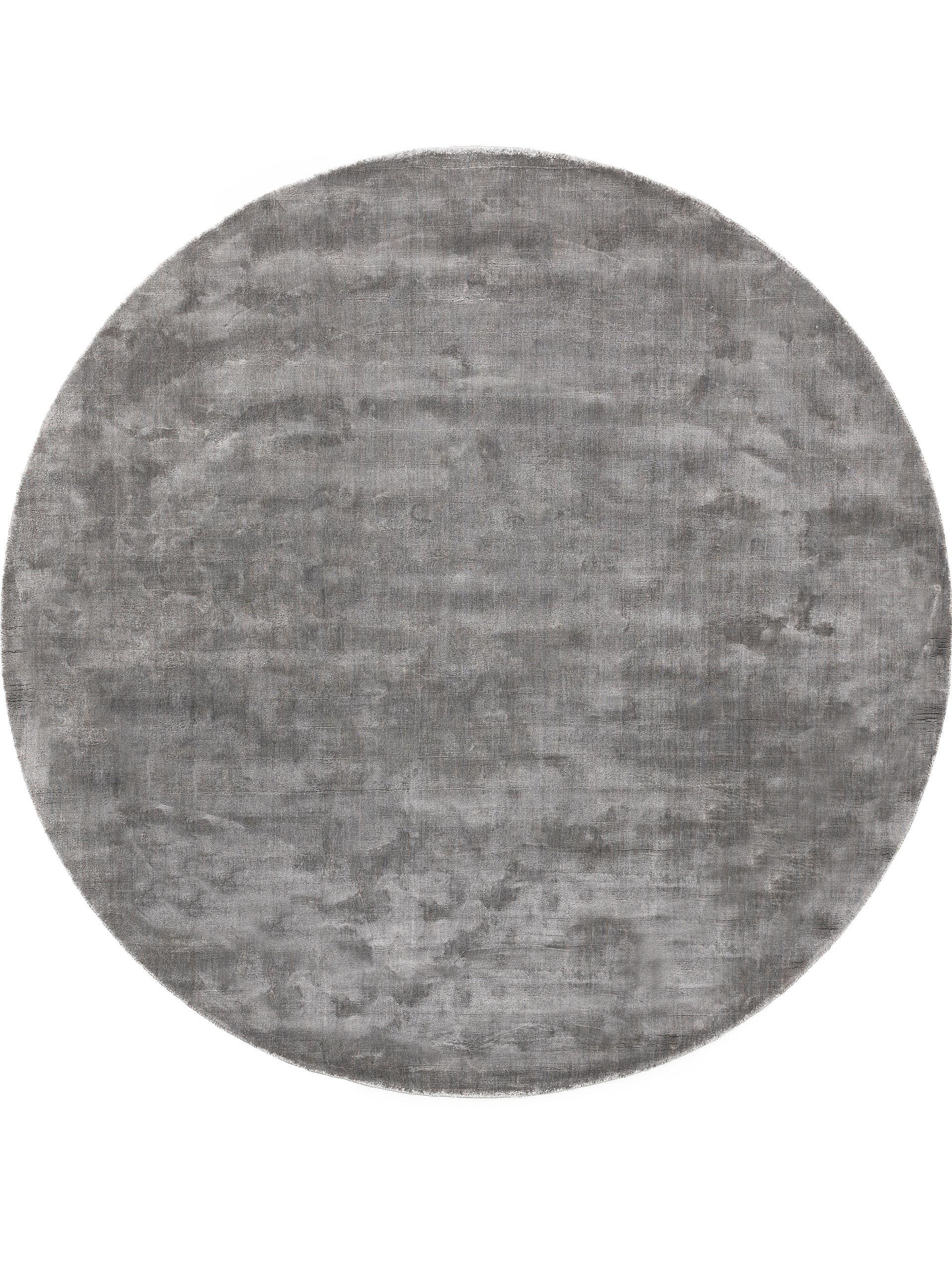 Tapis en viscose rond gris D 200