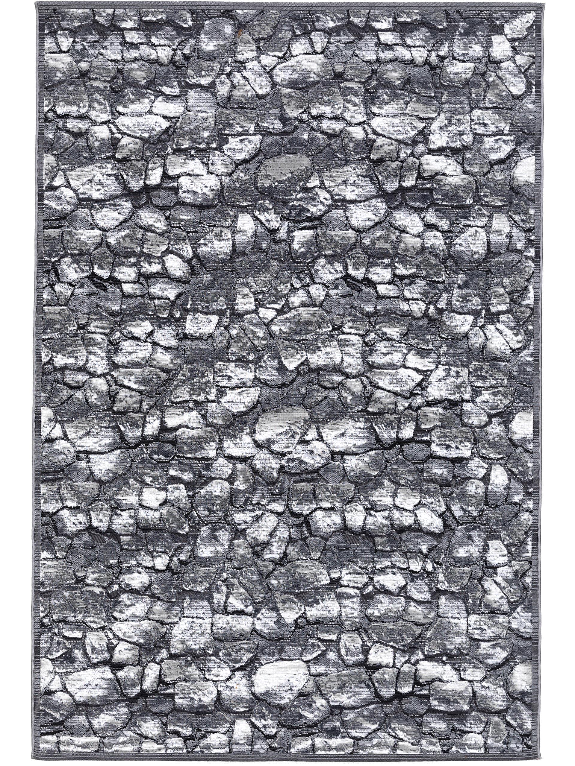 Tapis d'extérieur & intérieur anthracite 160x235