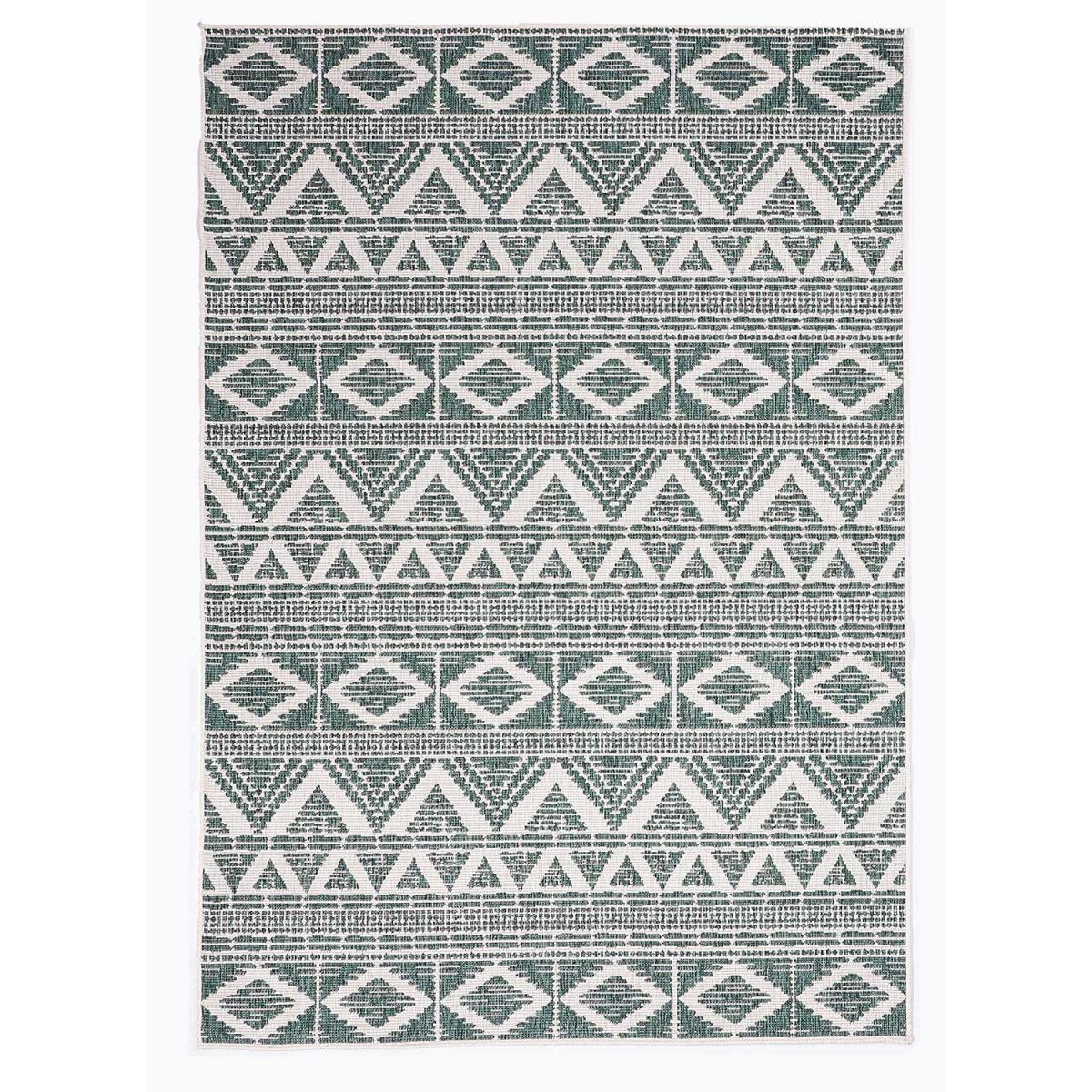 Tapis berbère style en polypropylène vert 120x170