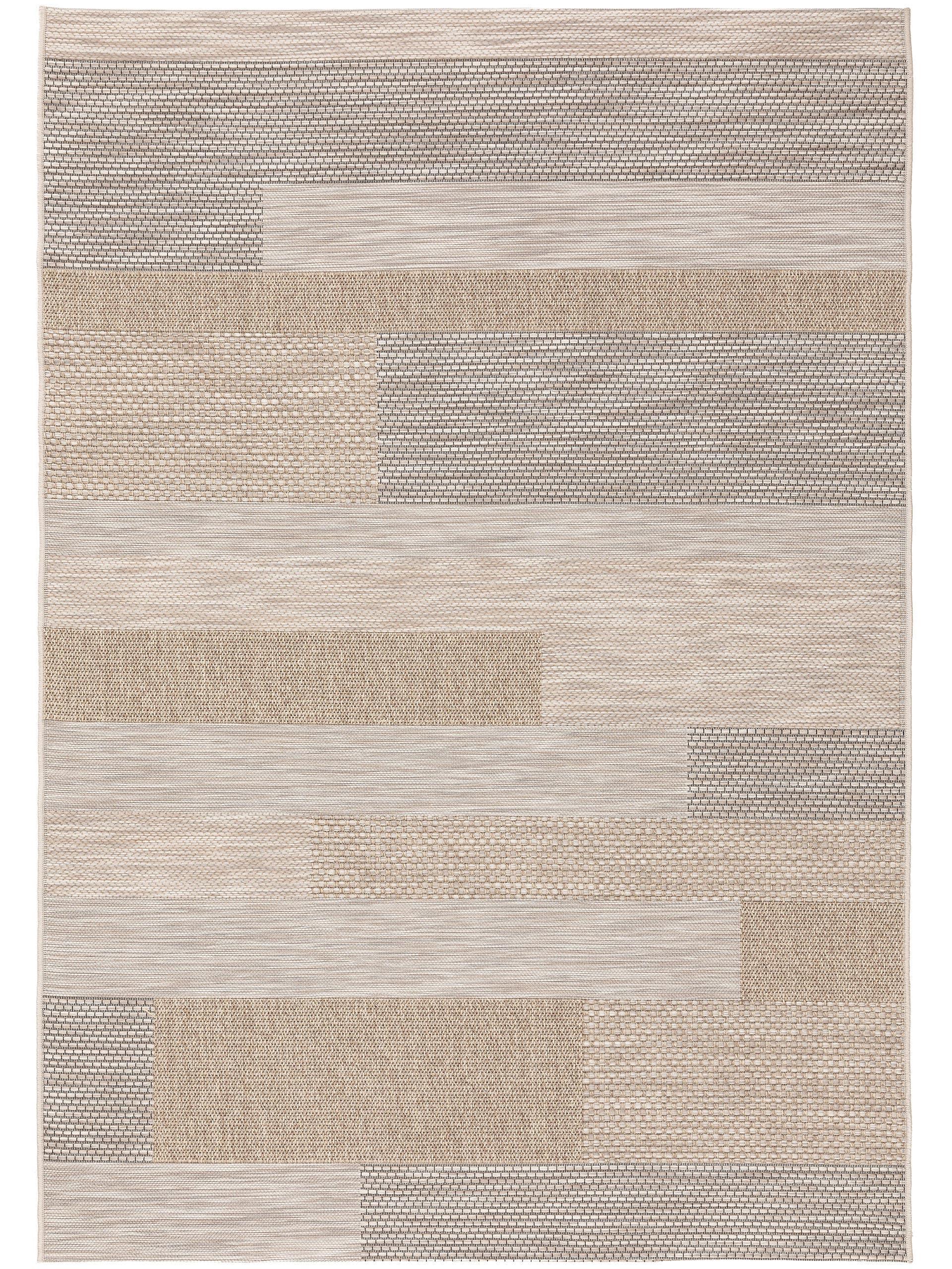 Tapis d'extérieur & intérieur beige/gris 160x230