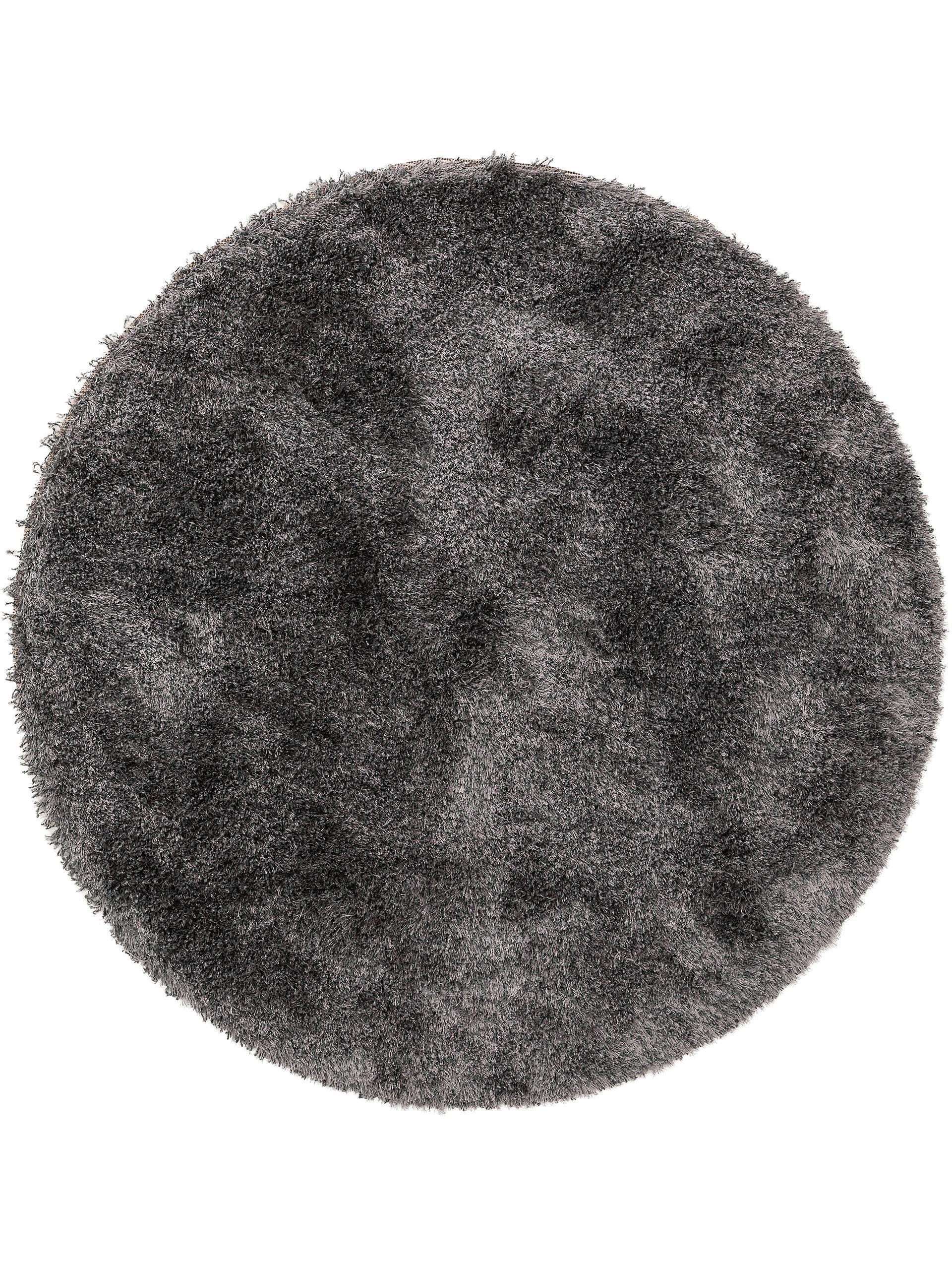 Tapis à poils longs gris D 120 rond