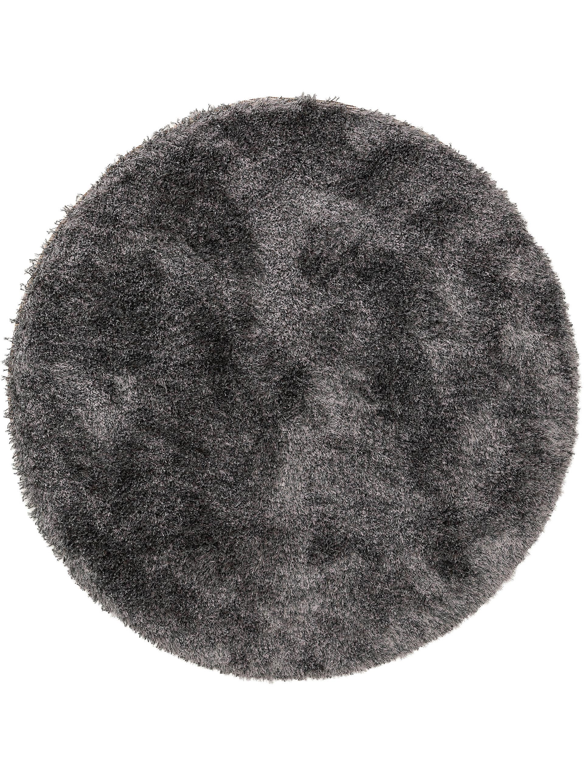 Tapis à poils longs gris D 200 rond