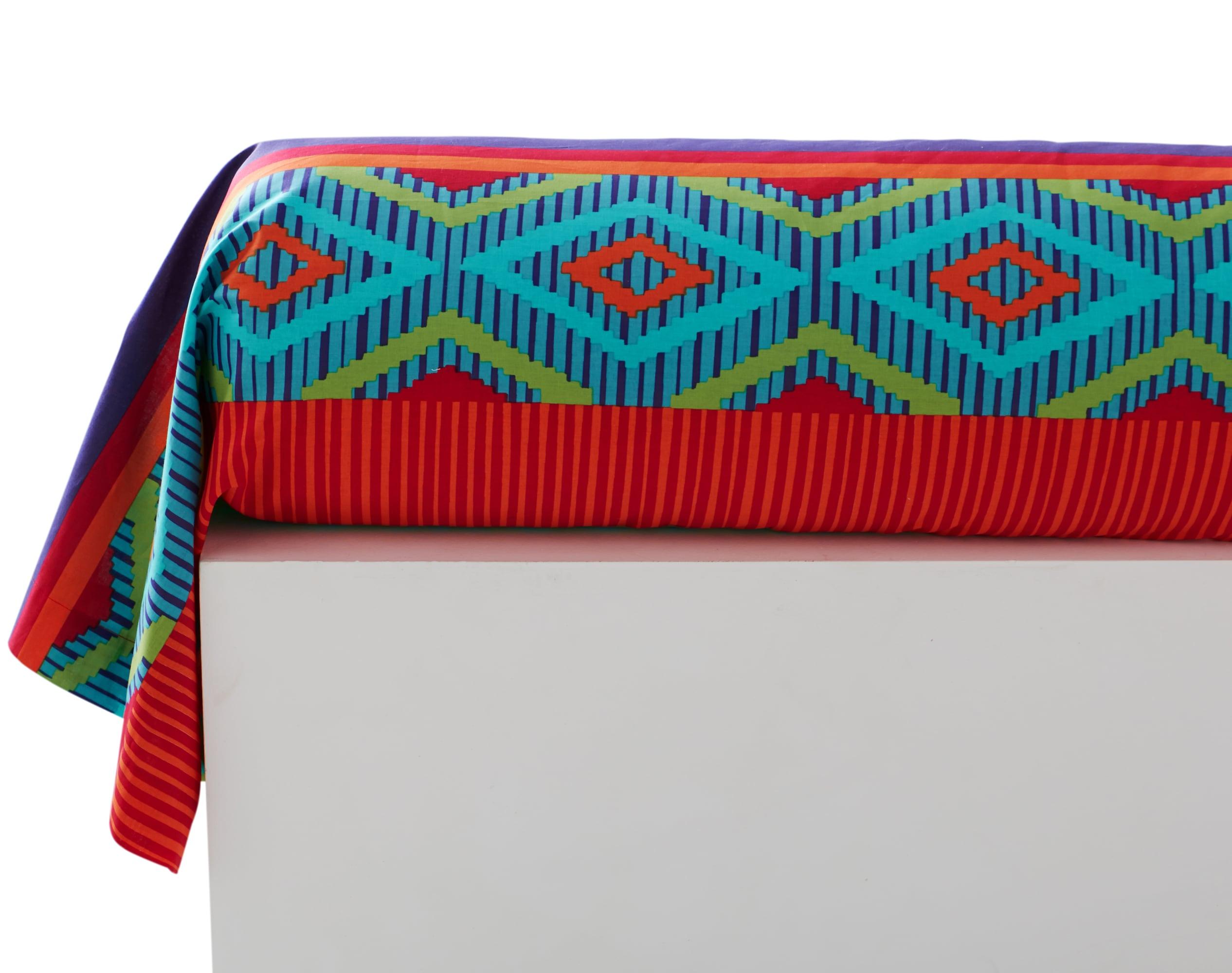 Taie de traversin 43x185 en coton multicolore