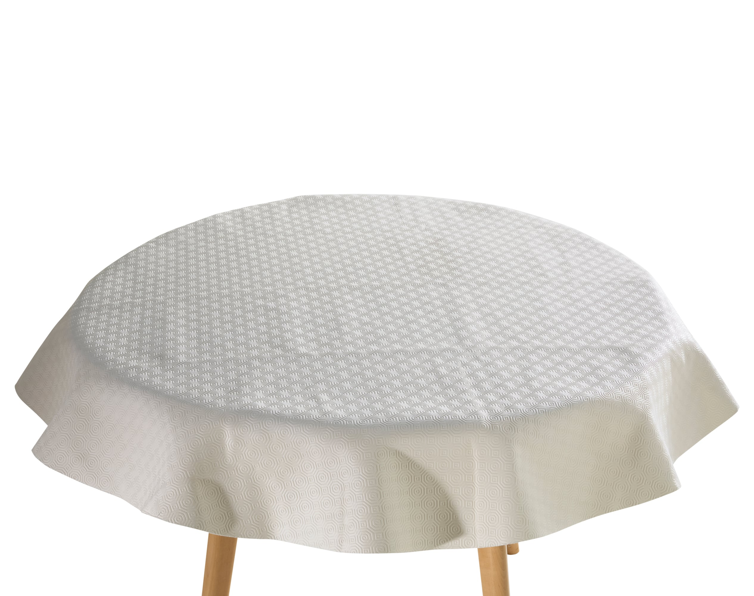 Protège-table luxe rectangulaire blanc 105x220