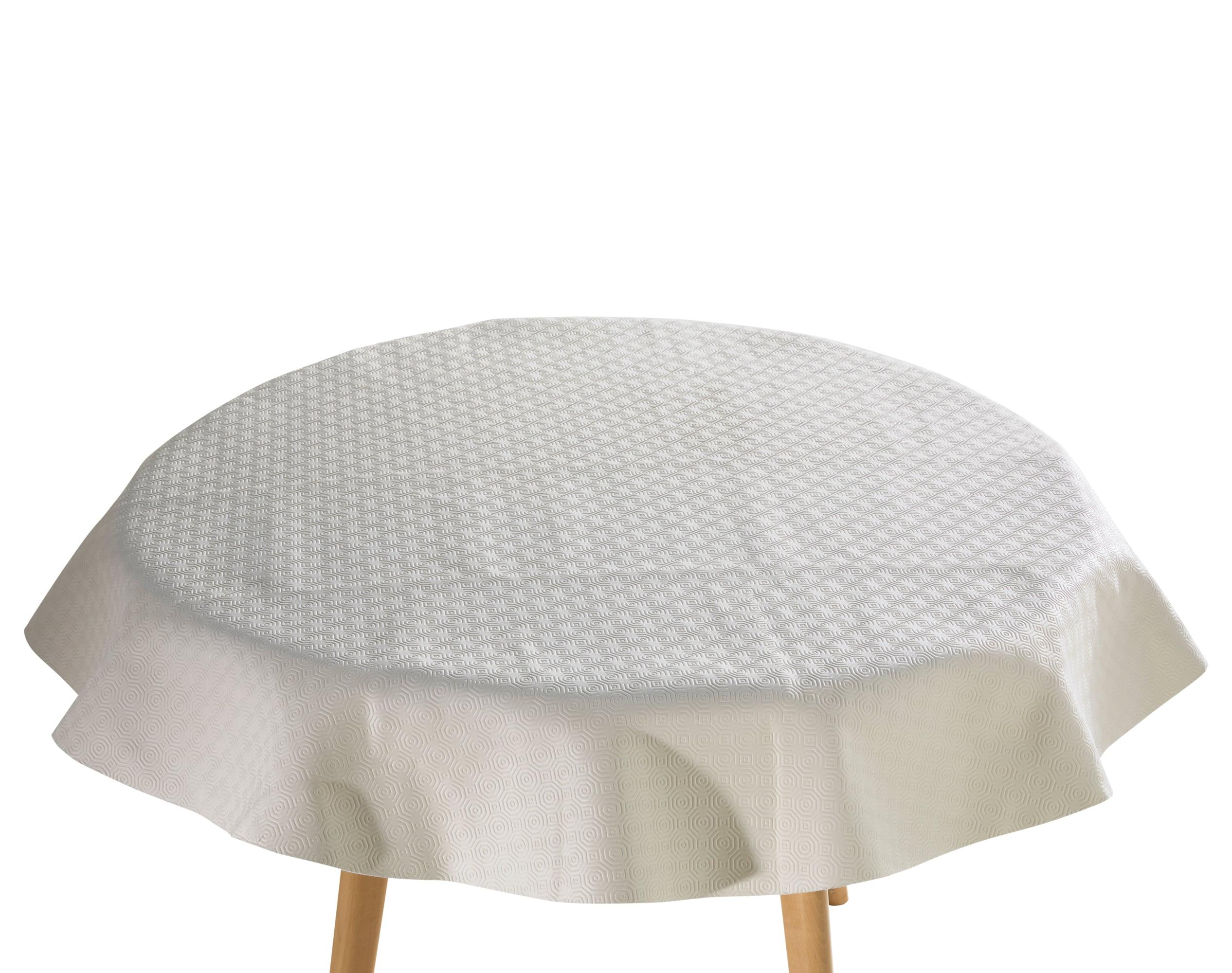 Protège-table standard ovale blanc 135x180