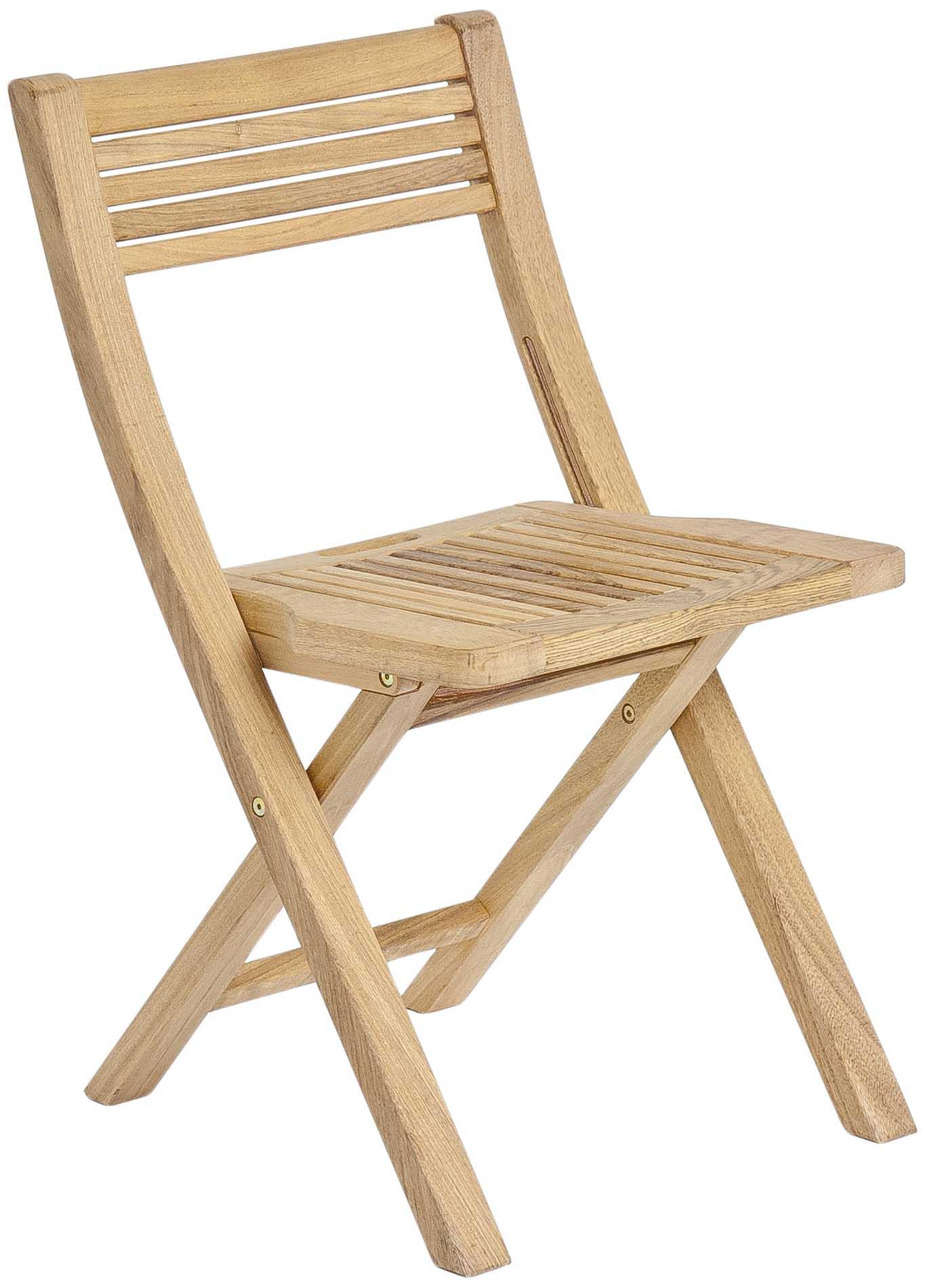 Chaise pliante en bois clair FSC