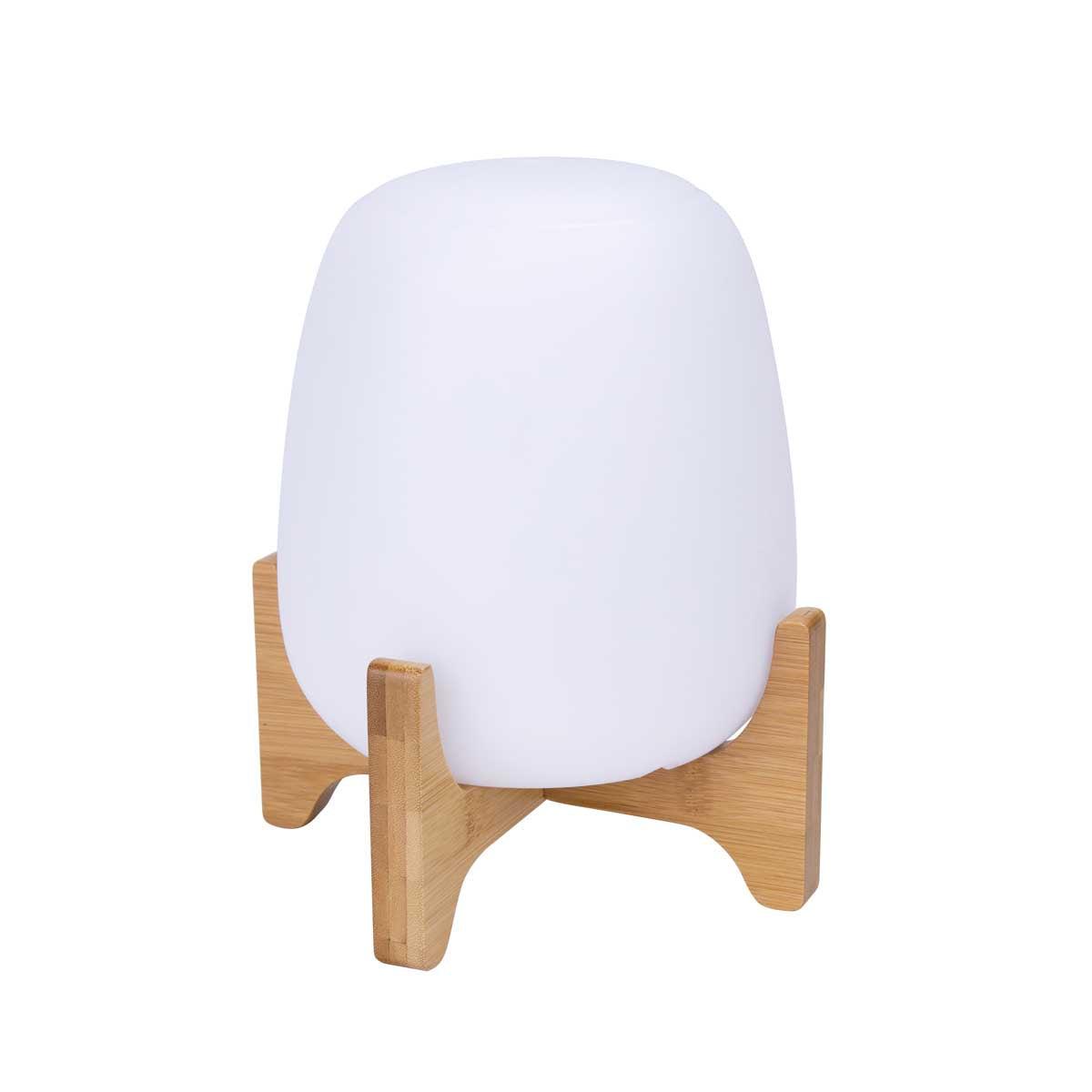 Lampe de table support en bois blanc H26cm