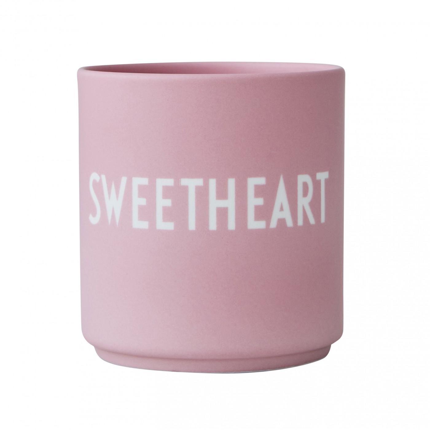 Mug rose en porcelaine Sweatheart