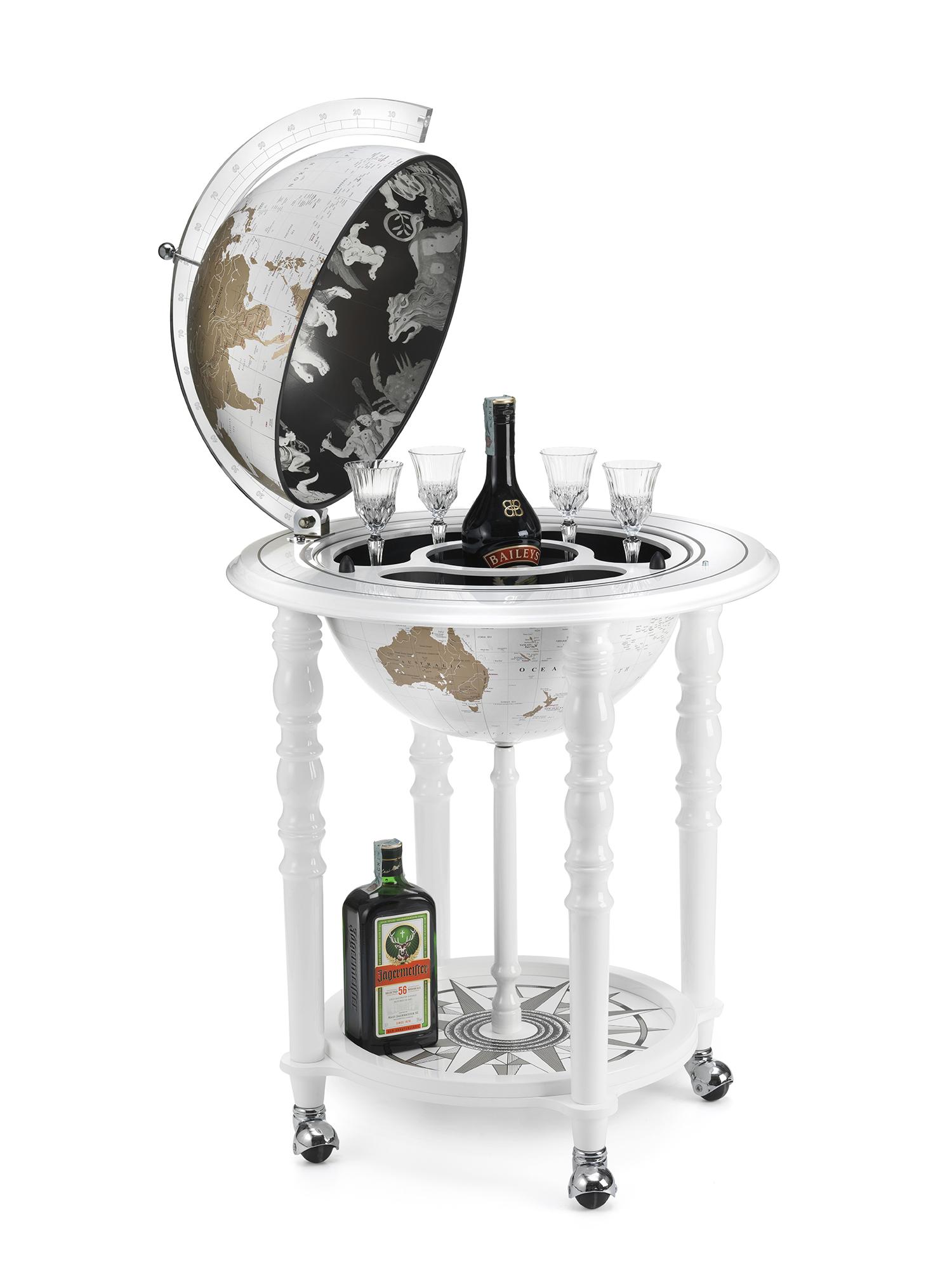 Globe bar de design avec roues élégance D40cm