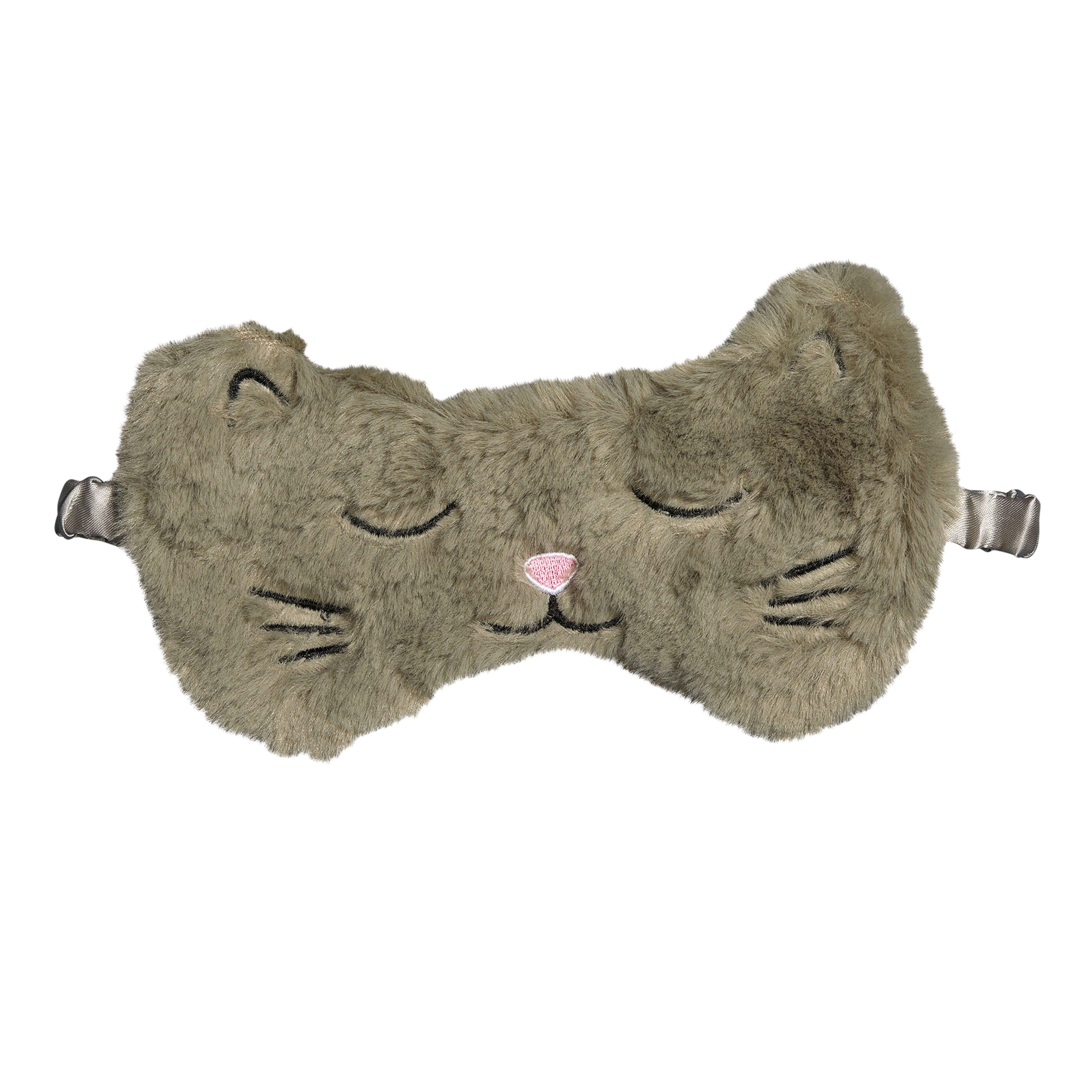 Masque de nuit chat gris