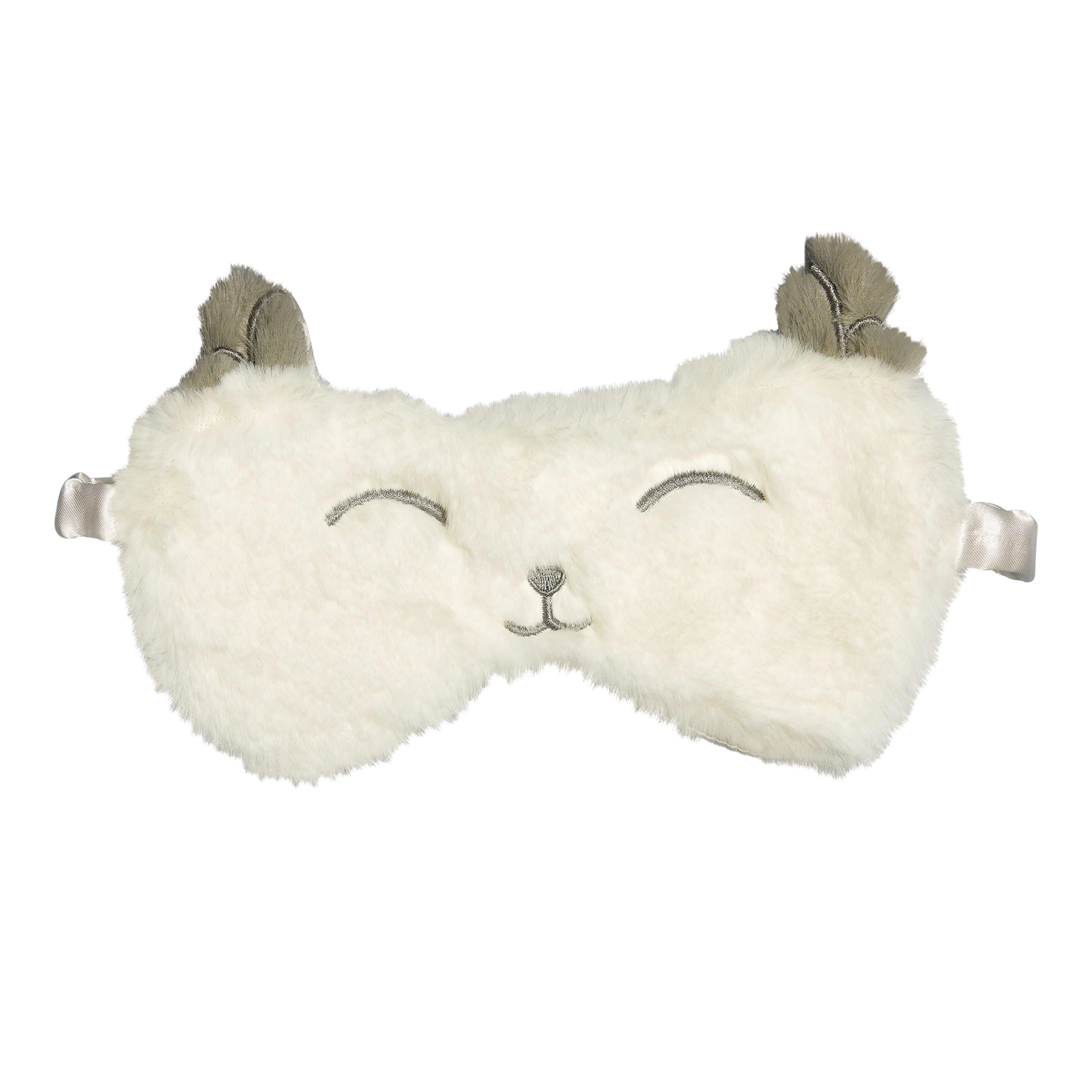 Masque de nuit lapin blanc