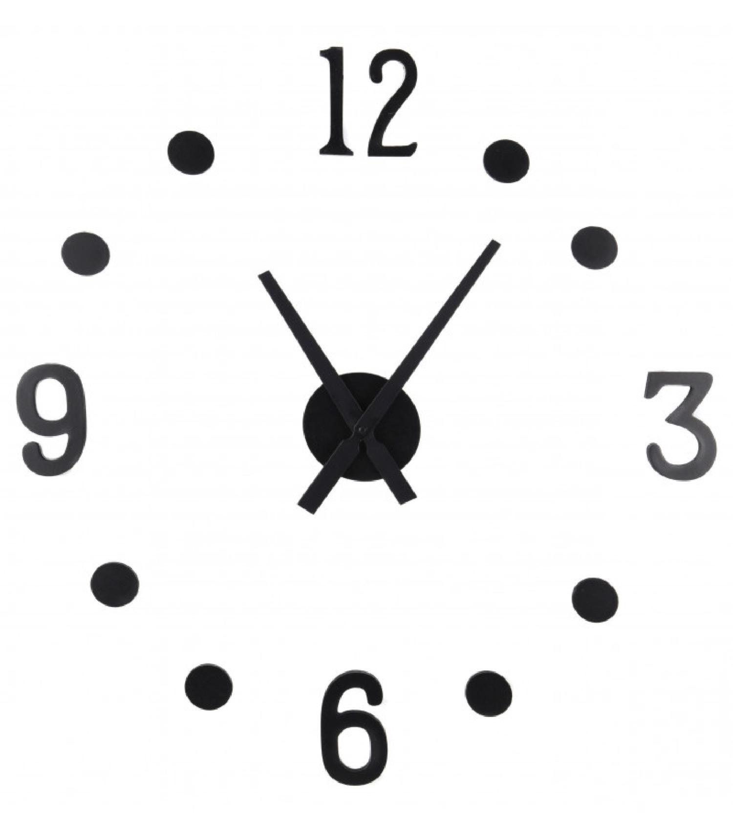 Horloge murale design noir taille personnalisable