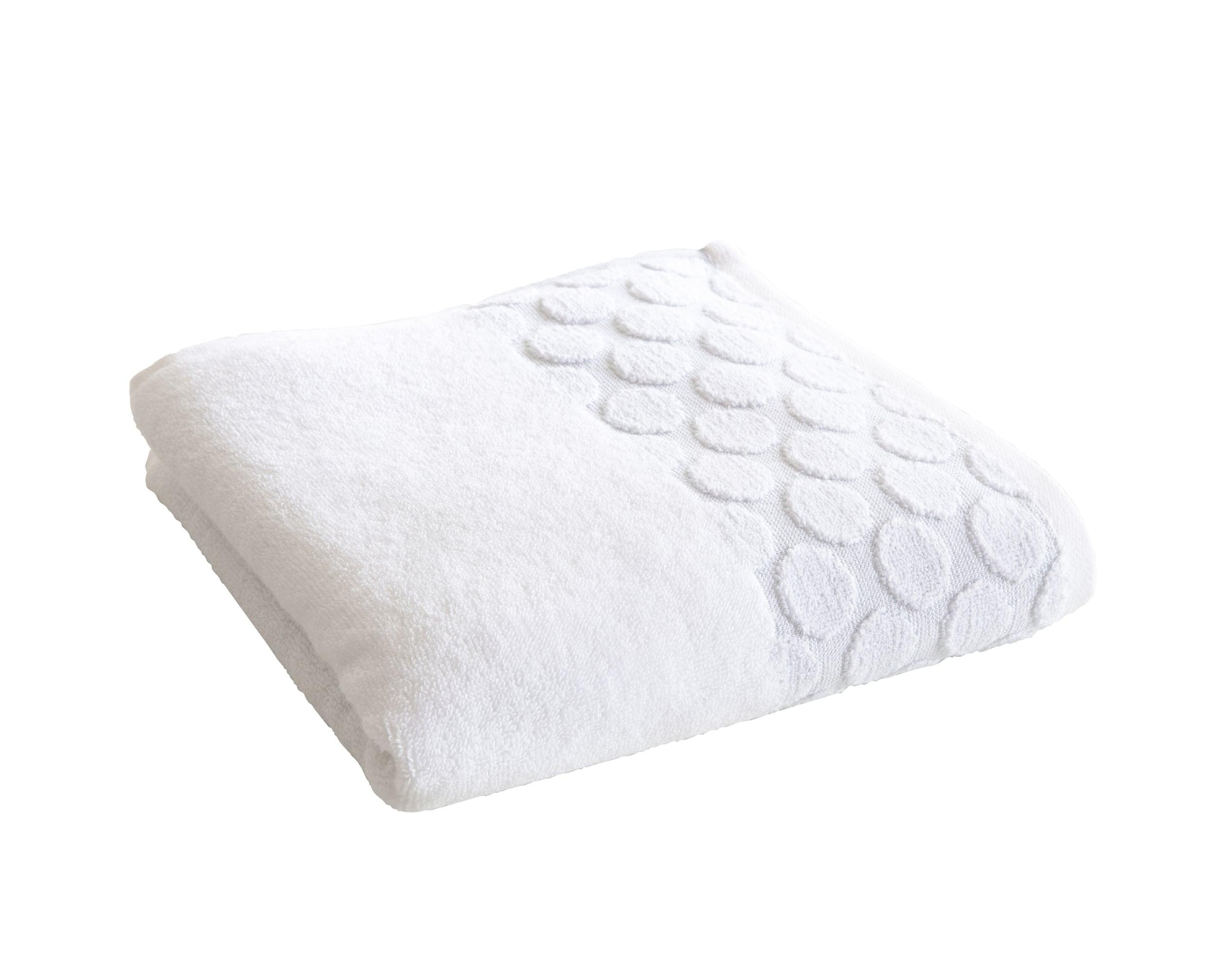 Drap de bain blanc 100x150 en coton