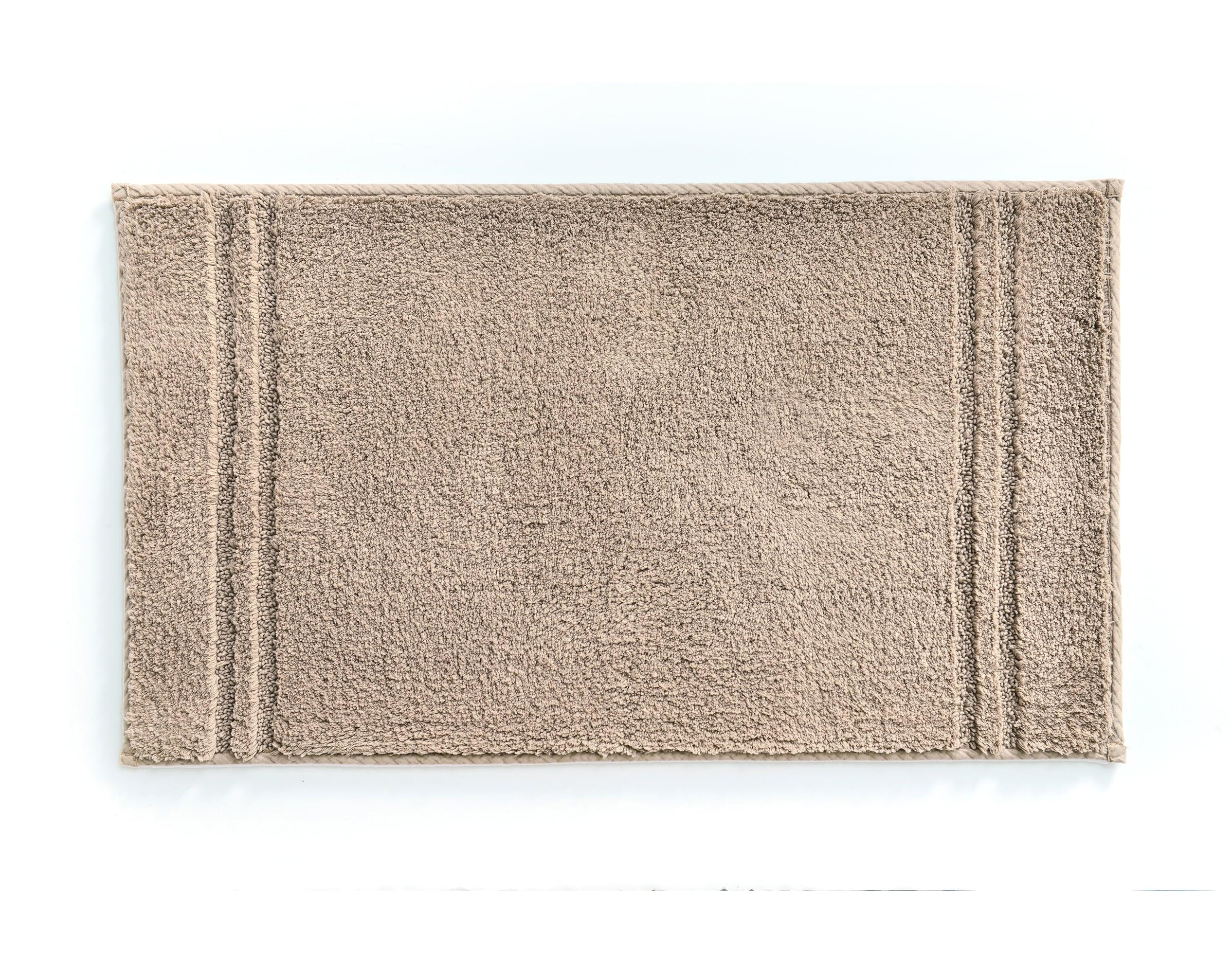 Tapis de bain beige sable 120x70 en coton