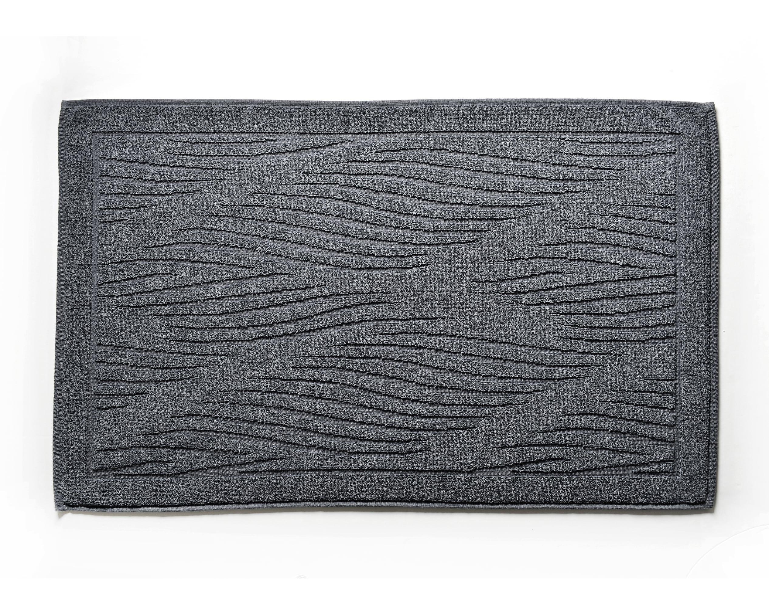 Tapis de bain gris anthracite 80x50 en coton