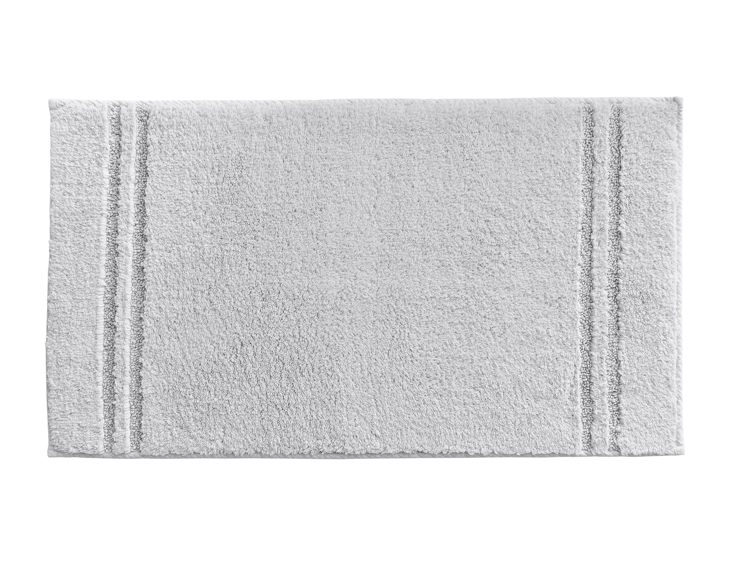 Tapis de bain gris brume 120x70 en coton
