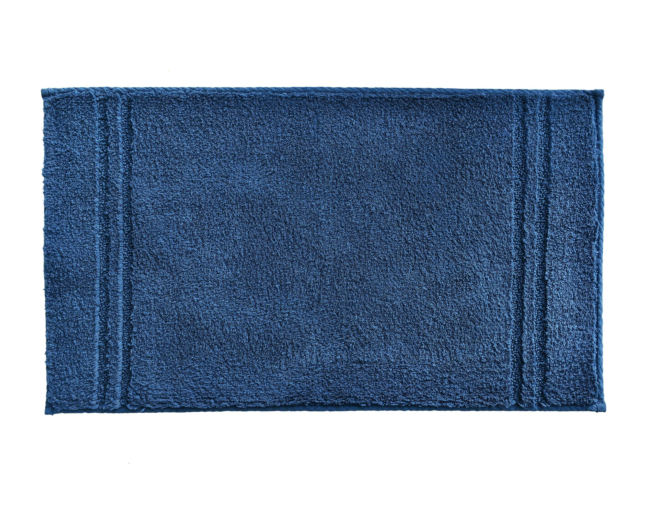 Tapis de bain bleu indigo  90x50 en coton