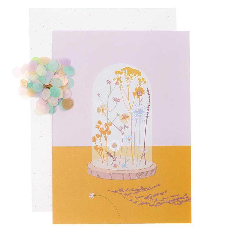 Carte cloche à fleurs DIY à personnaliser