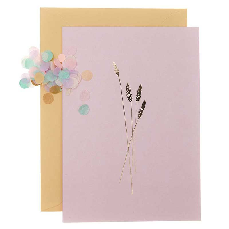Carte florale rose DIY à personnaliser